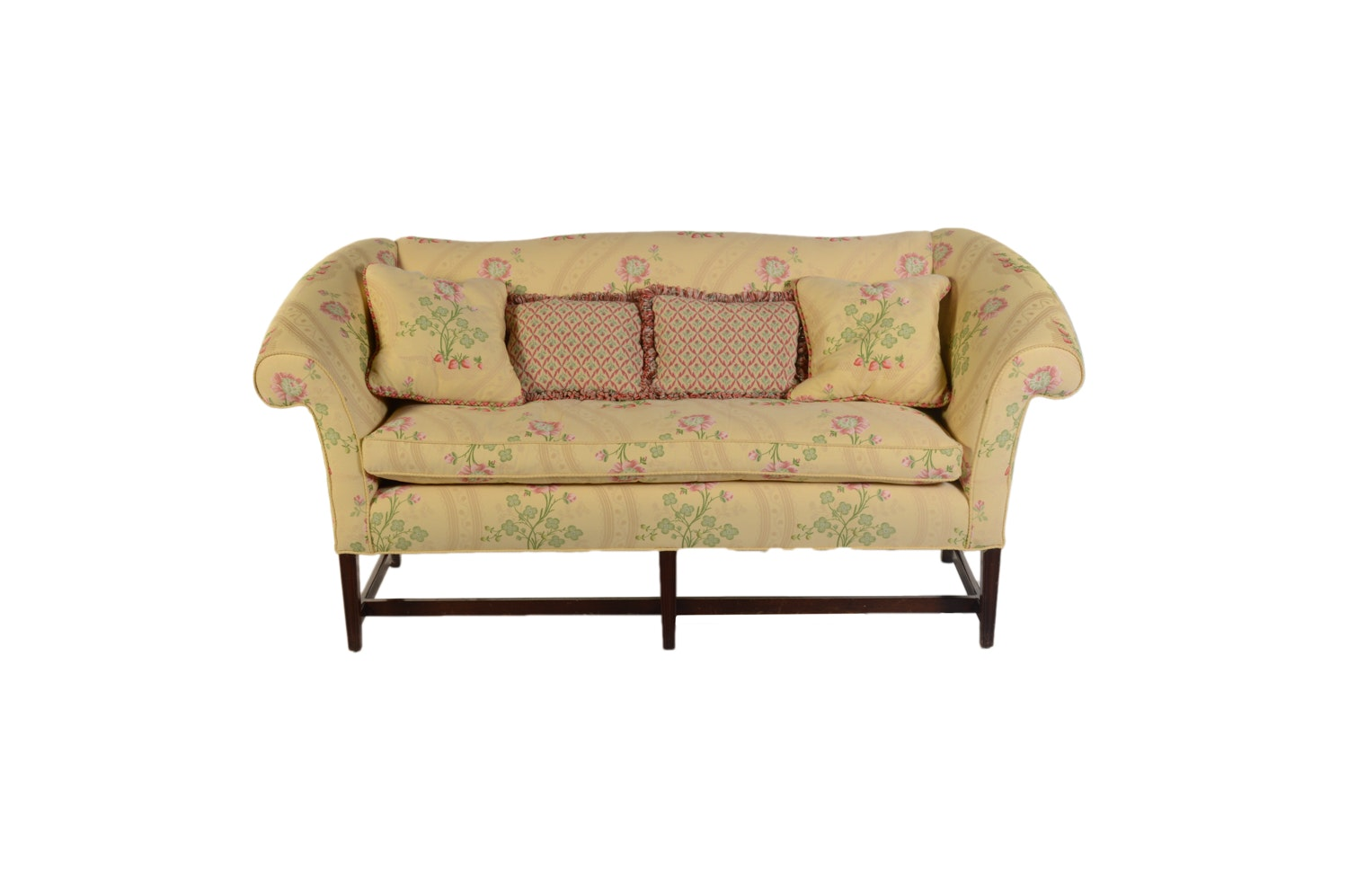 Floral Upholstered Settee by Scalamandre