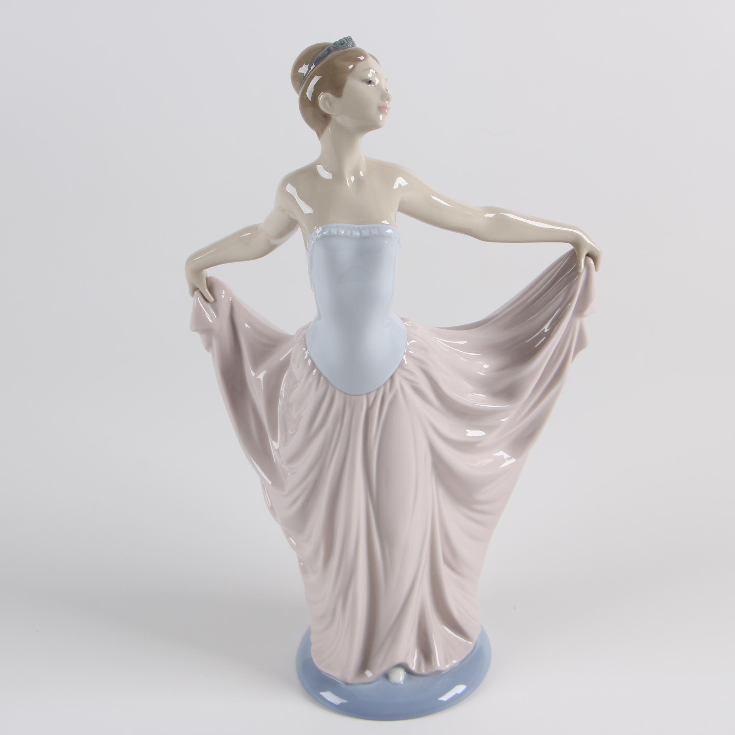 "Lladró ""Dancer"" Hand-Painted Porcelain Figurine"