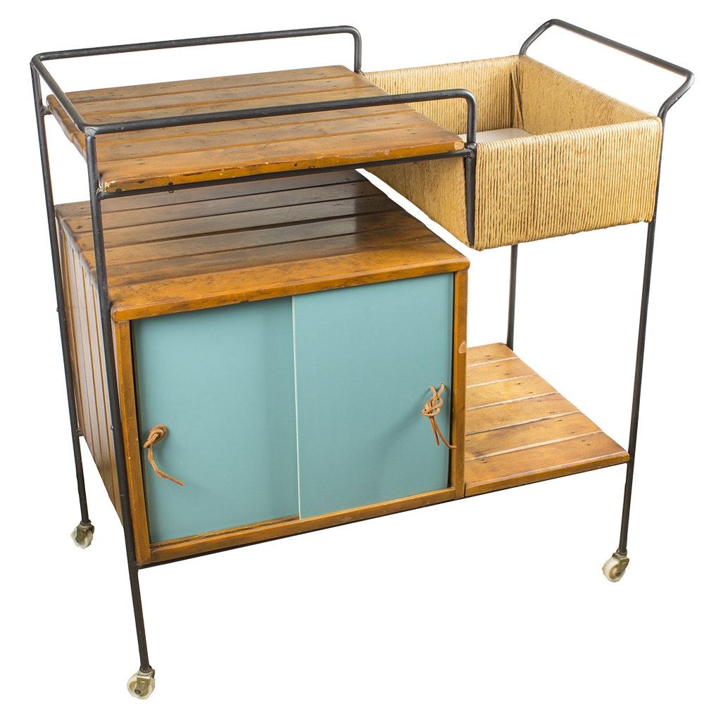 Arthur Umanoff Style Bar Cart