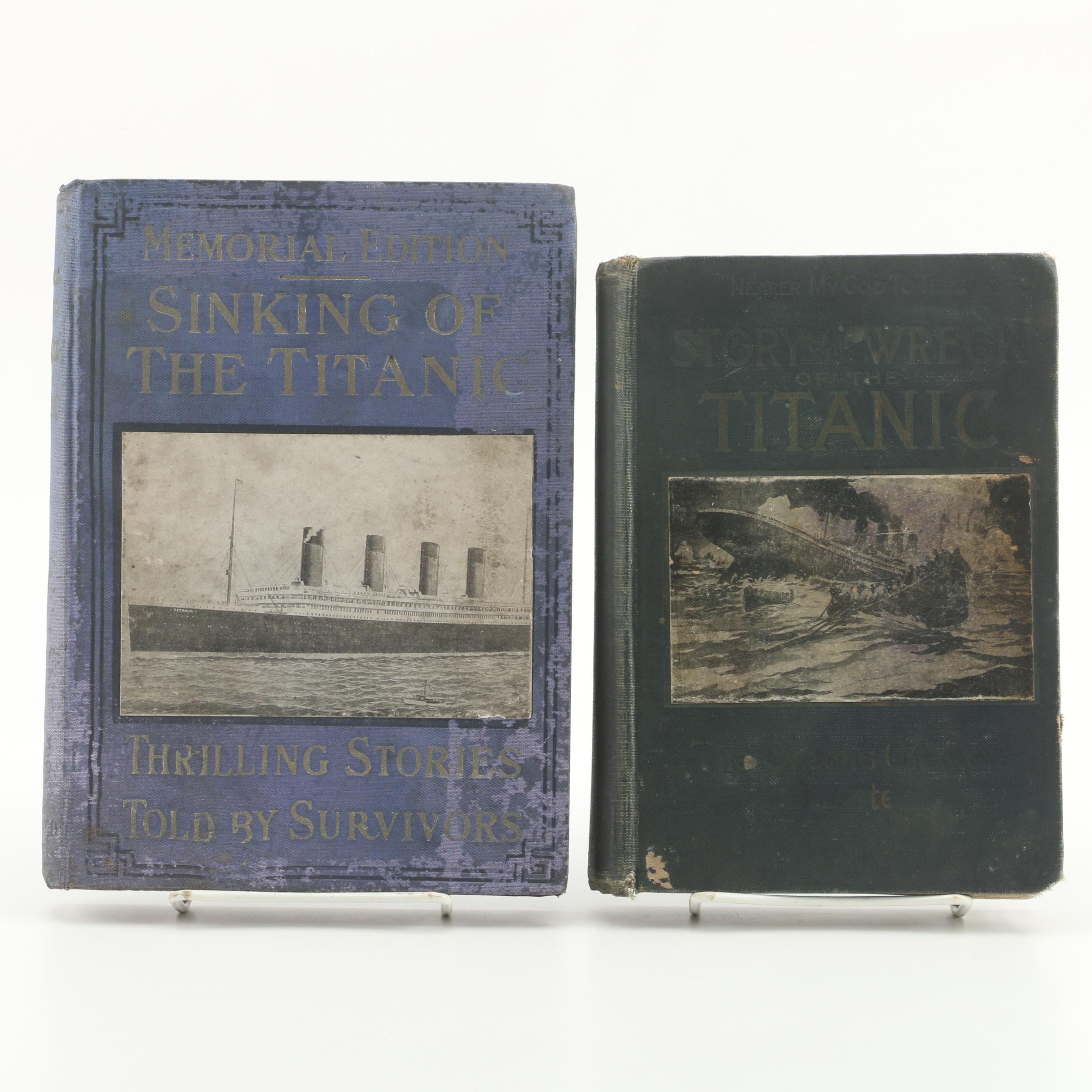 "1912 ""Sinking of the Titanic"" and ""Wreck and Sinking of the Titanic"""