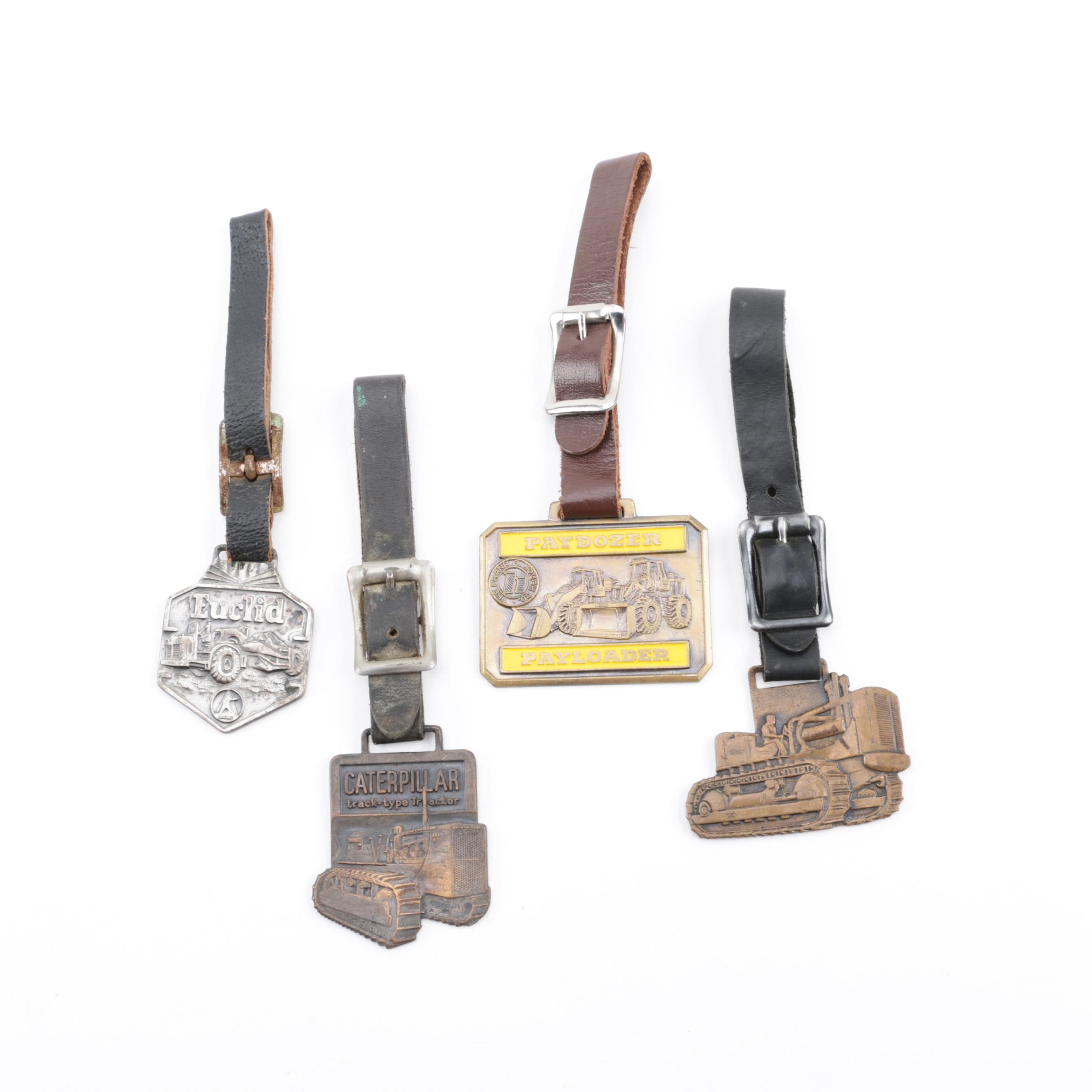 Vintage Heavy Duty Construction Equipment Themed Watch Fobs