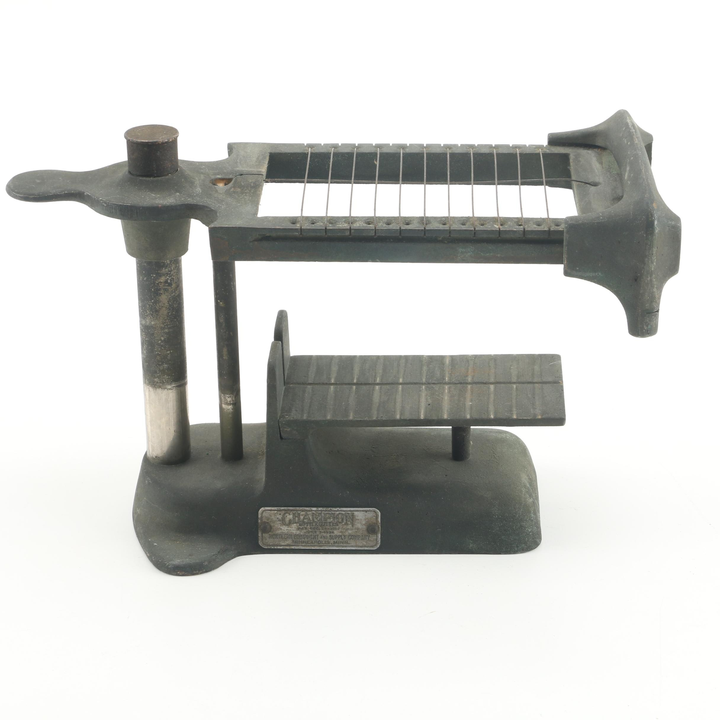 1920s Northern Equipment and Supply Co. Champion Butter Cutter
