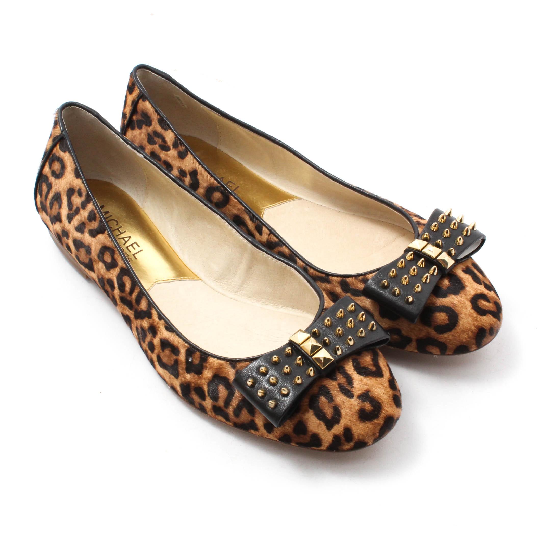 MICHAEL Michael Kors Devin Cheetah Print Calf Hair Ballet Flats