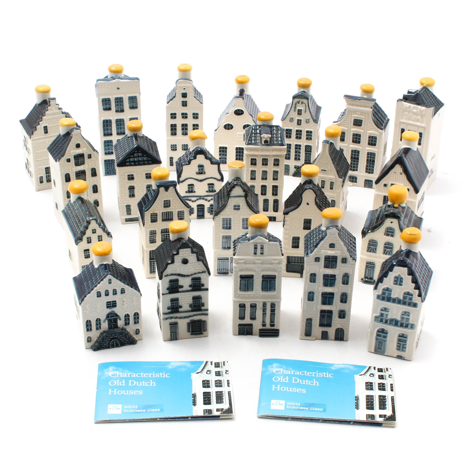 Blue Delft Dutch Houses for KLM by BOLS