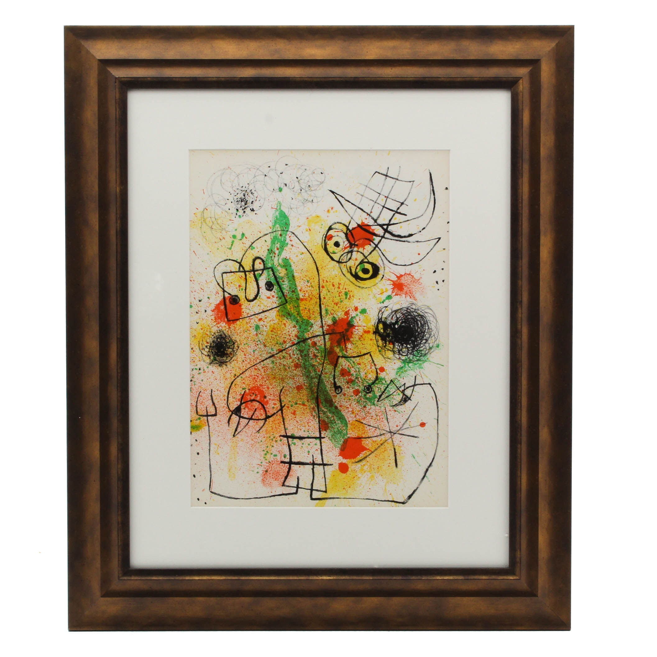 "Joan Miró 1967 Color Lithograph for ""Derriere Le Miroir"" #164 - 165"