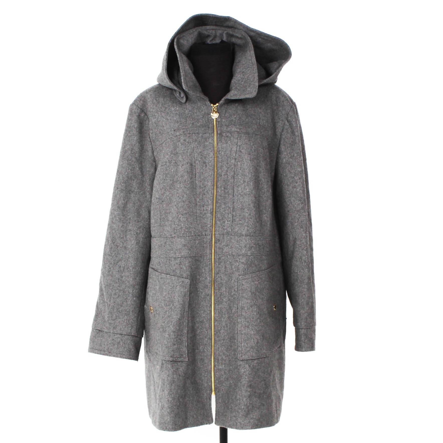 MICHAEL Michael Kors Grey Wool Blend Coat