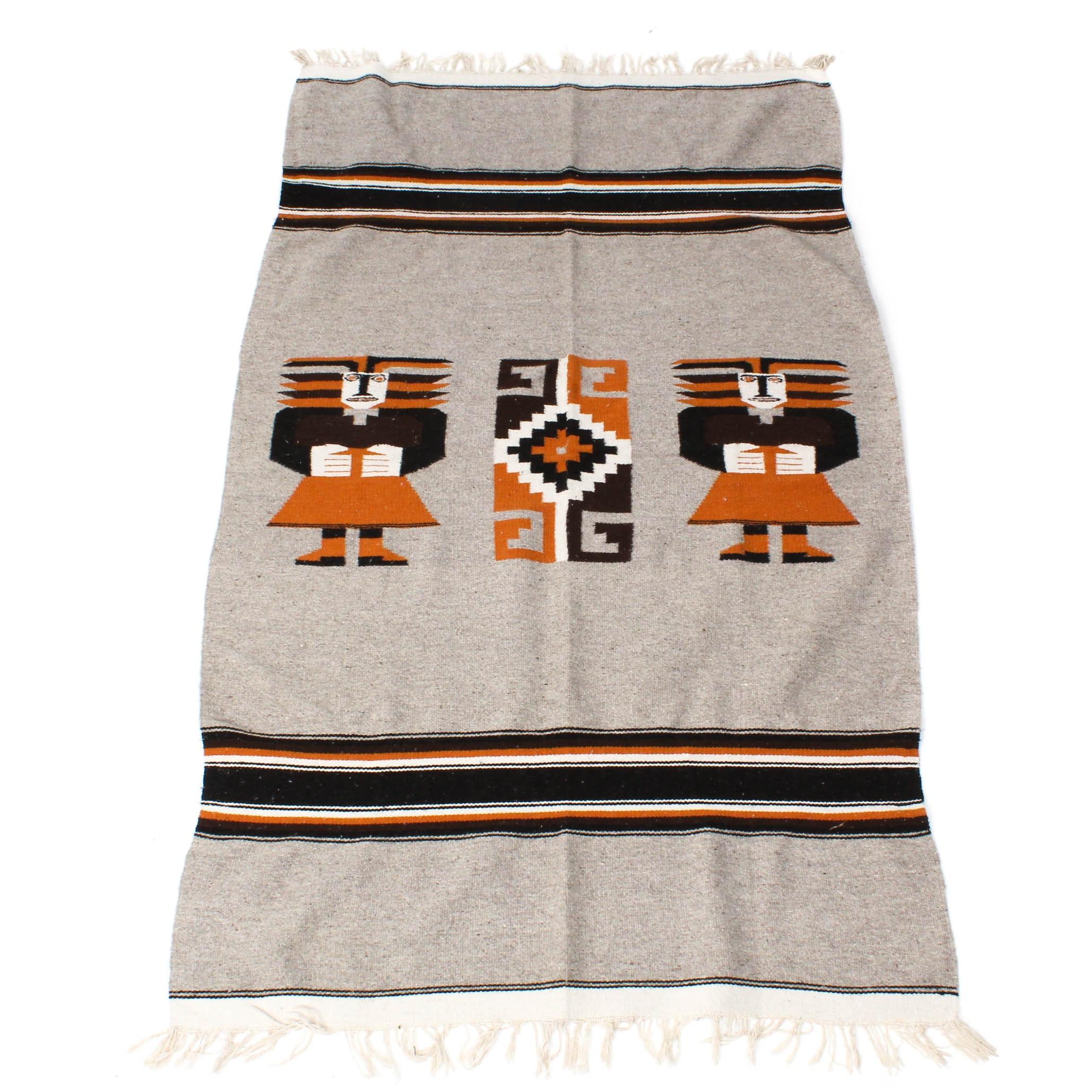Handwoven Zapotec Style Blanket