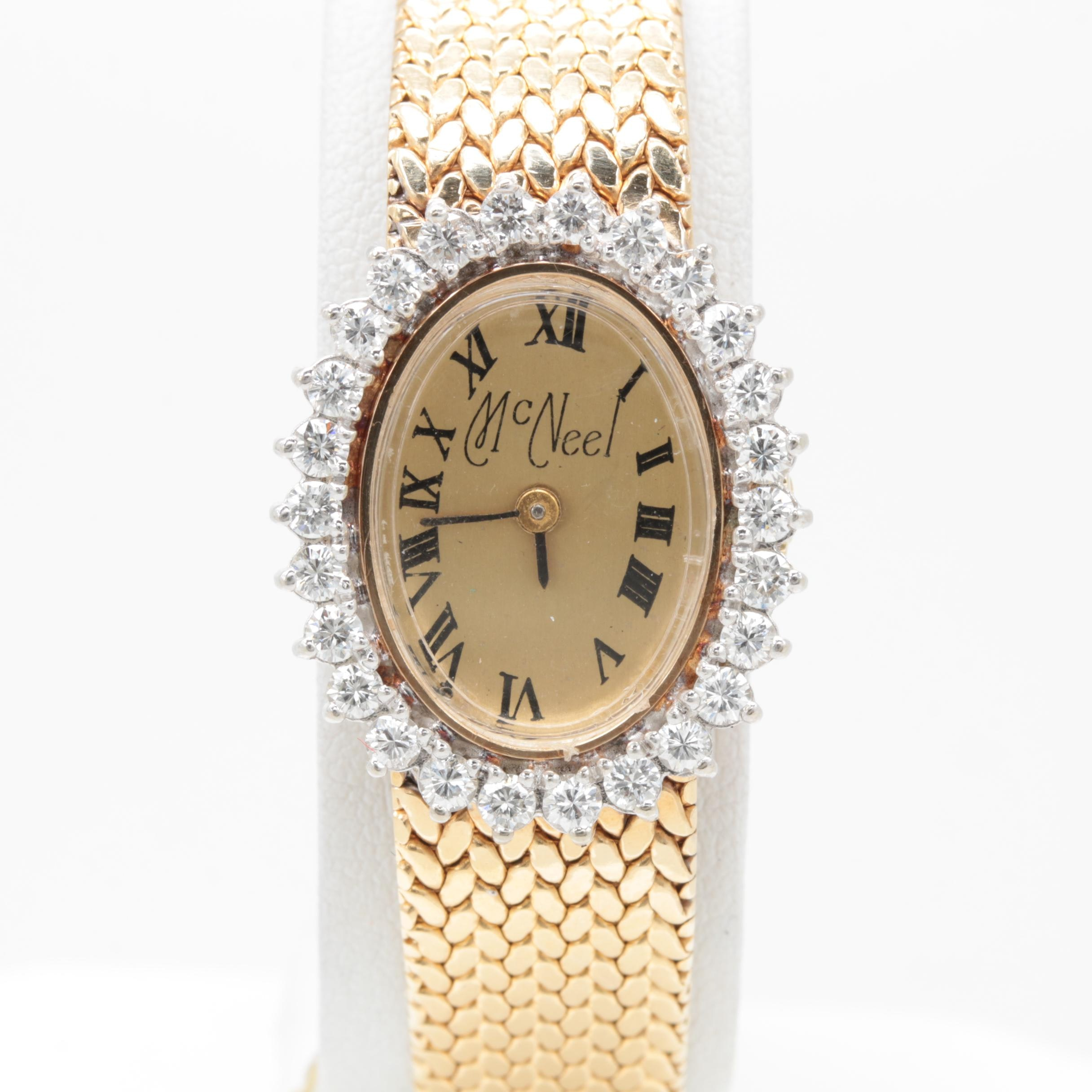 Panto 14K Yellow Gold 1.04 CTW Diamond Wristwatch