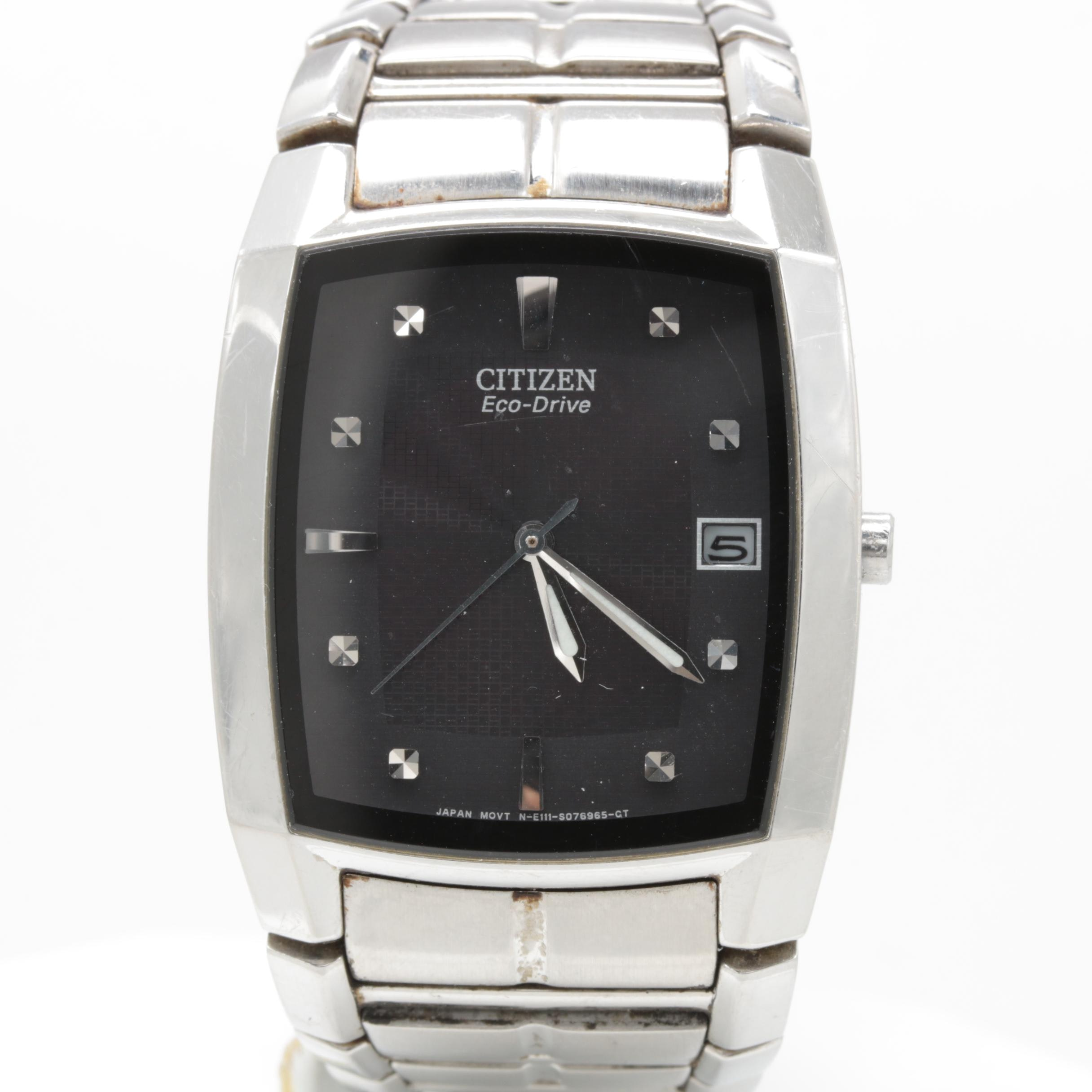 Citizen Stainless Steel Black Dial Wristwatch