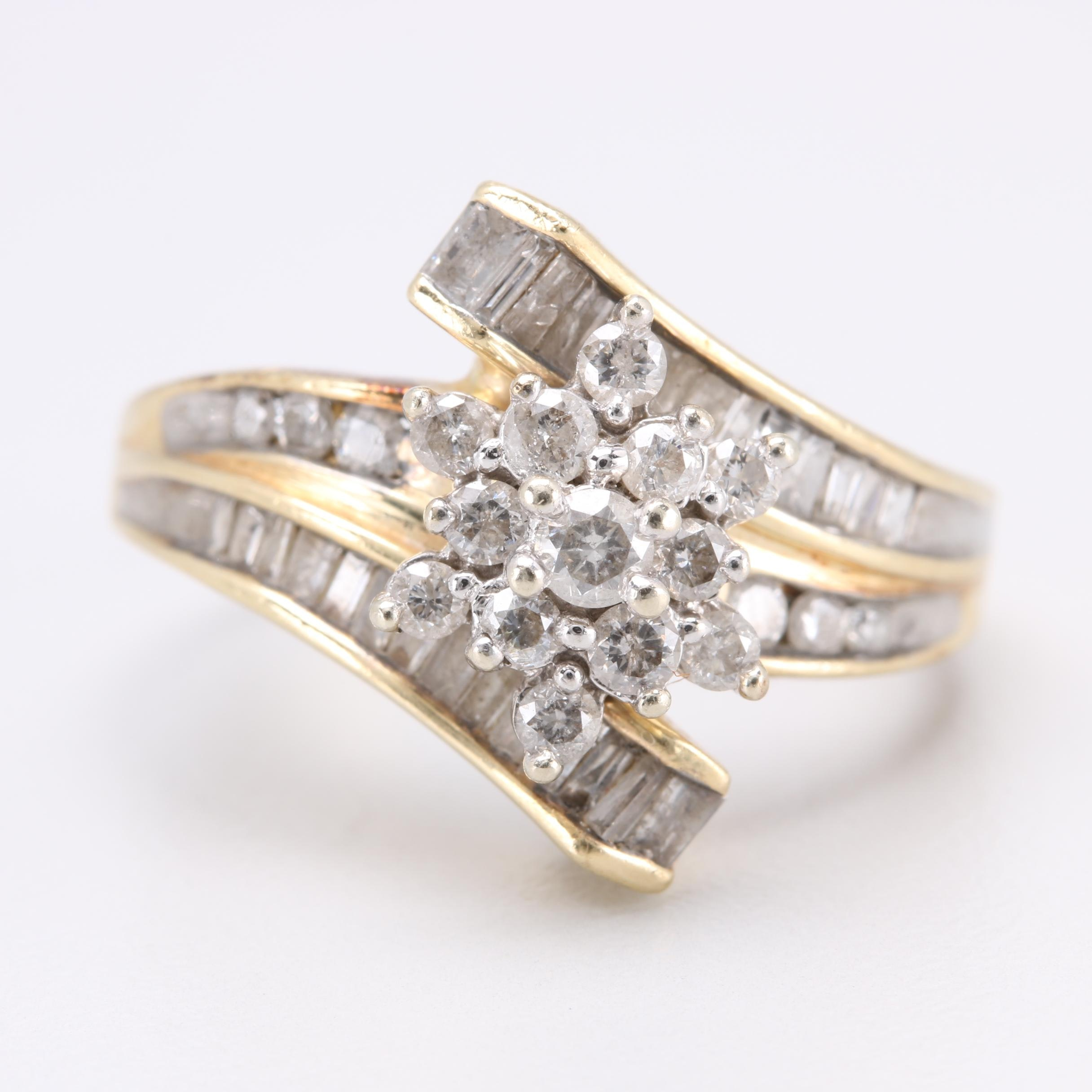 10K Yellow Gold 1.00 CTW Diamond Ring