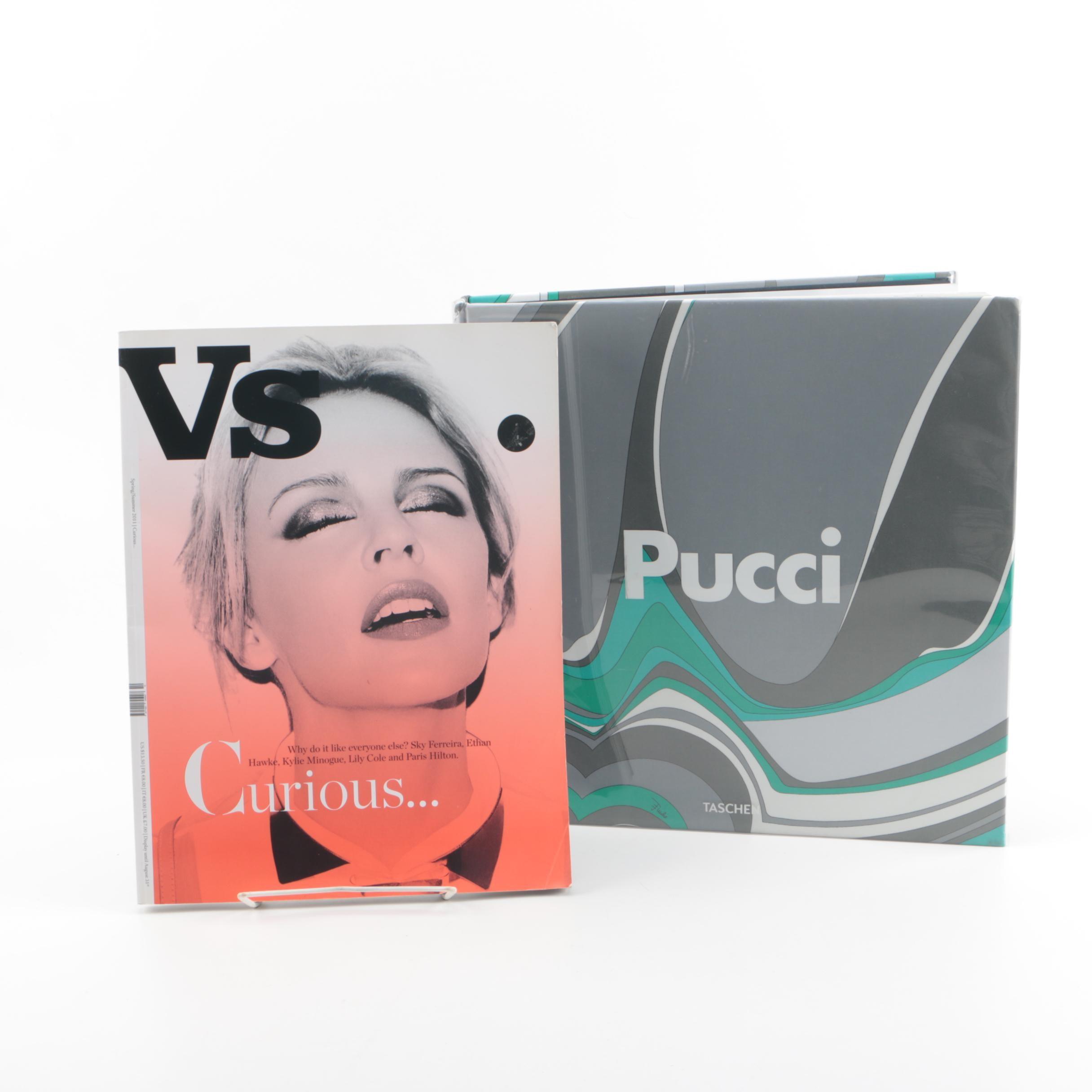 """2010 """"Emilio Pucci"""" Book with 2011 """"Vs."""" Magazine Issue"""