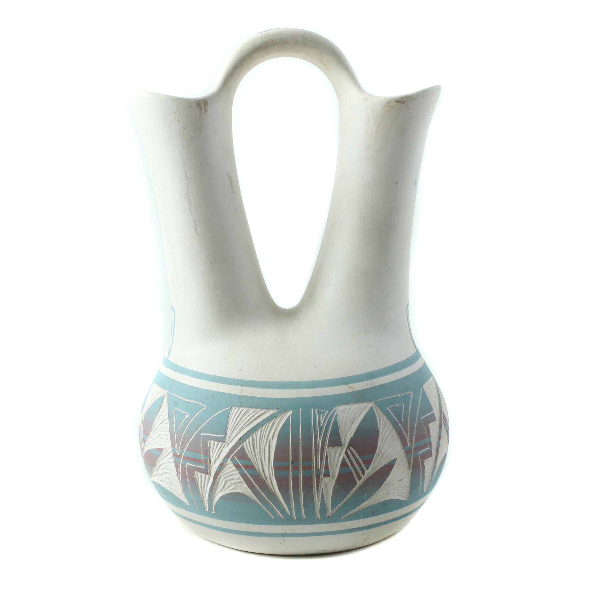 Signed Begay Navajo Wedding Vase