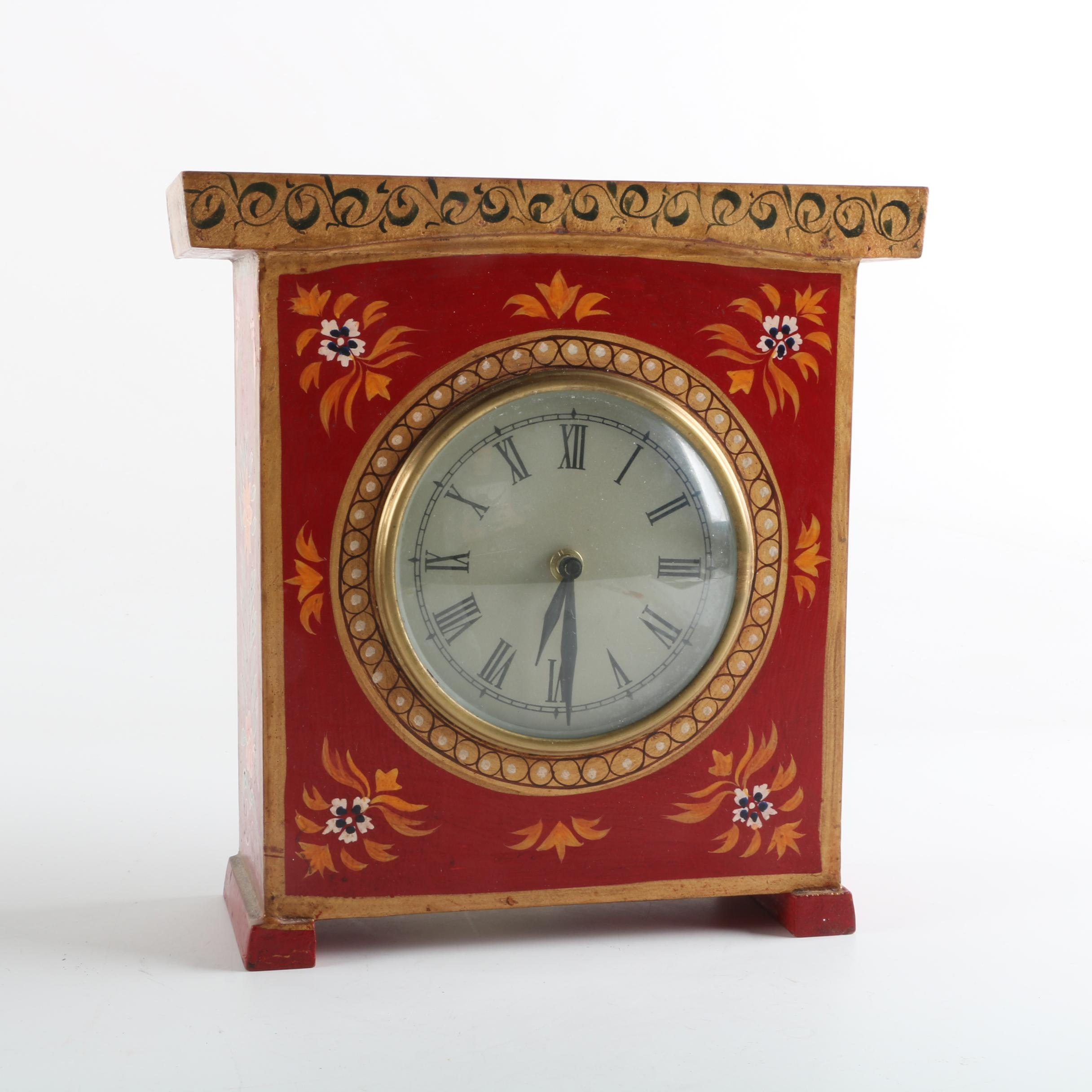 Global Bazaar Hand-Painted Mantel Clock