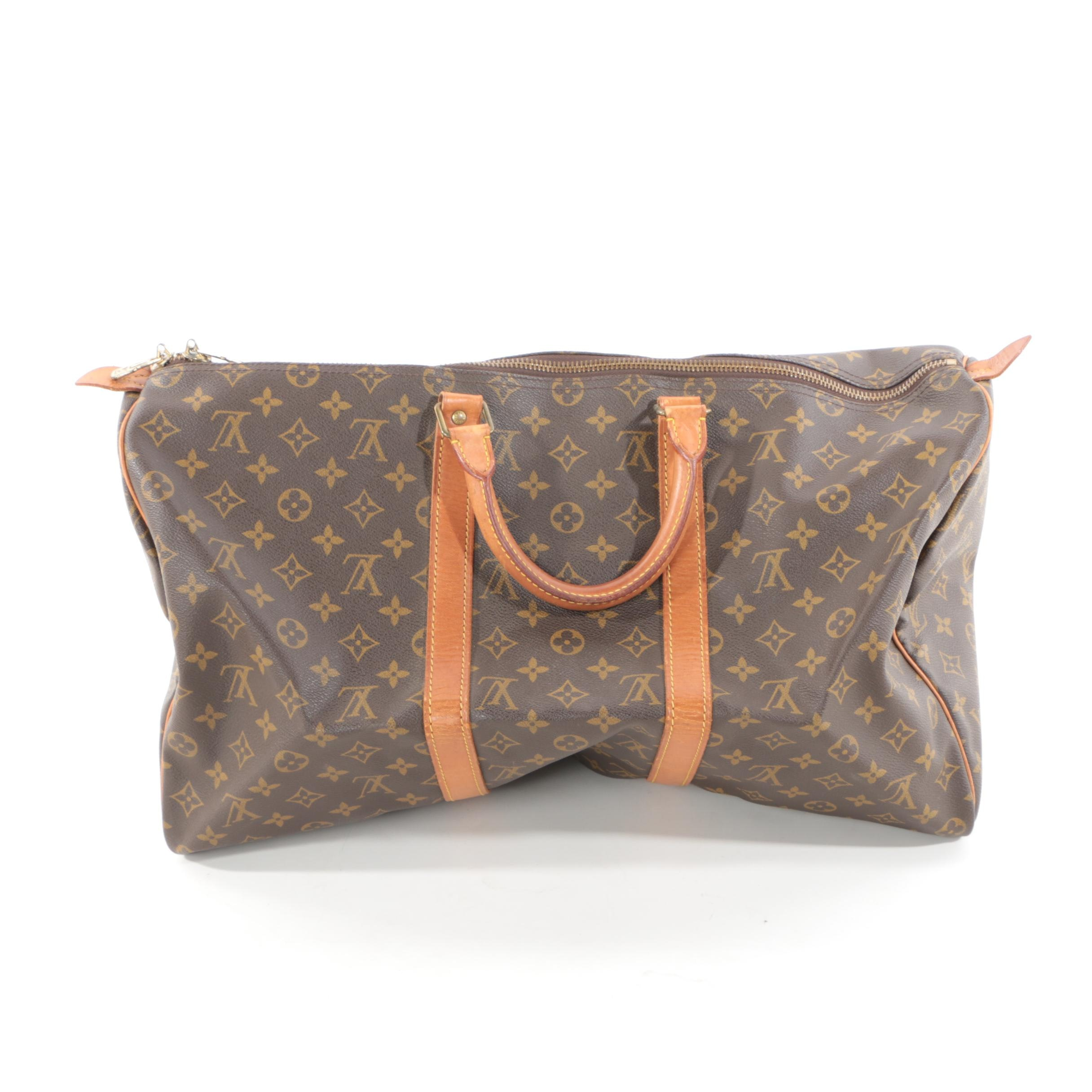 1987 Louis Vuitton of Paris Monogram Canvas 50 Keepall Duffle Bag