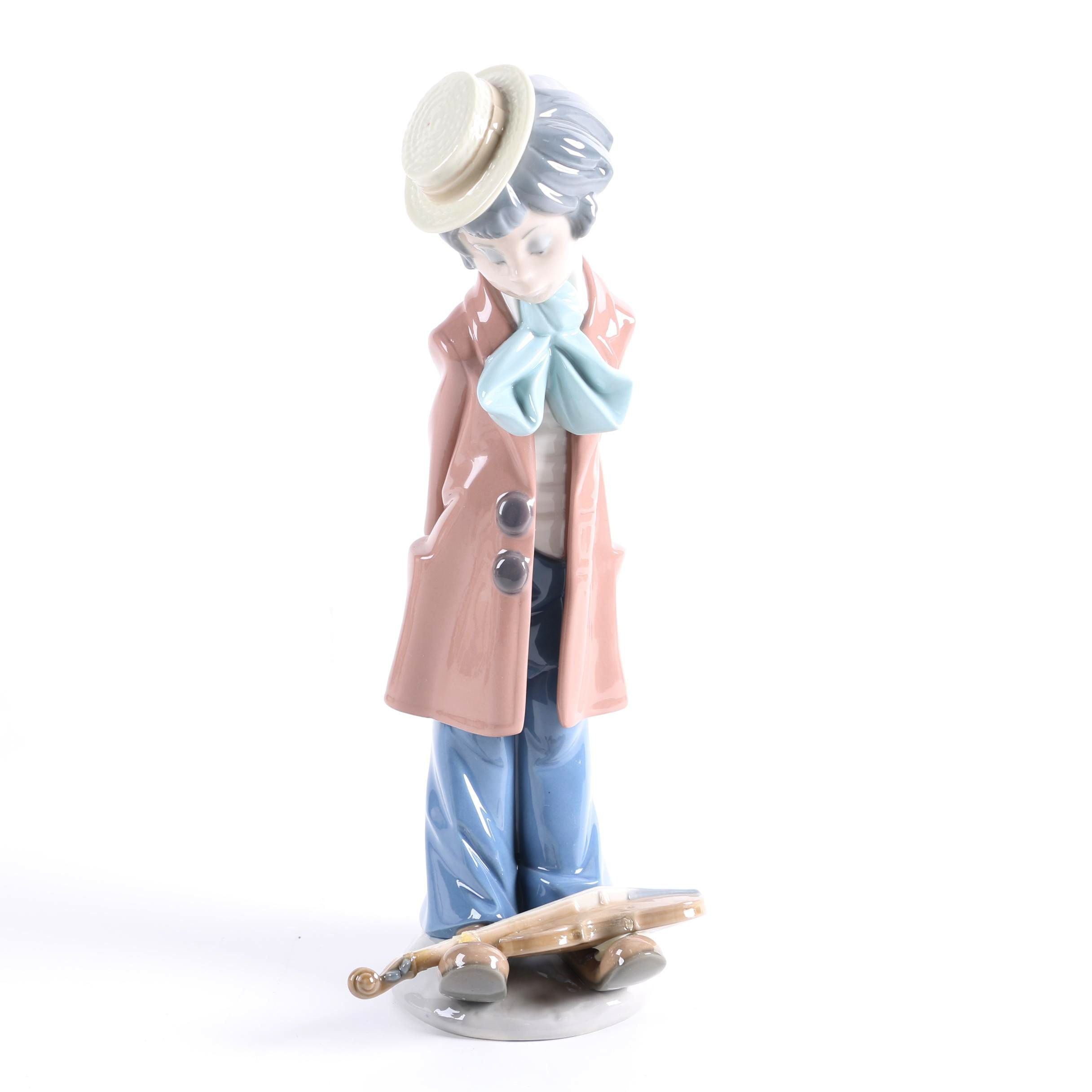 Lladró Boy with Violin Porcelain Figurine