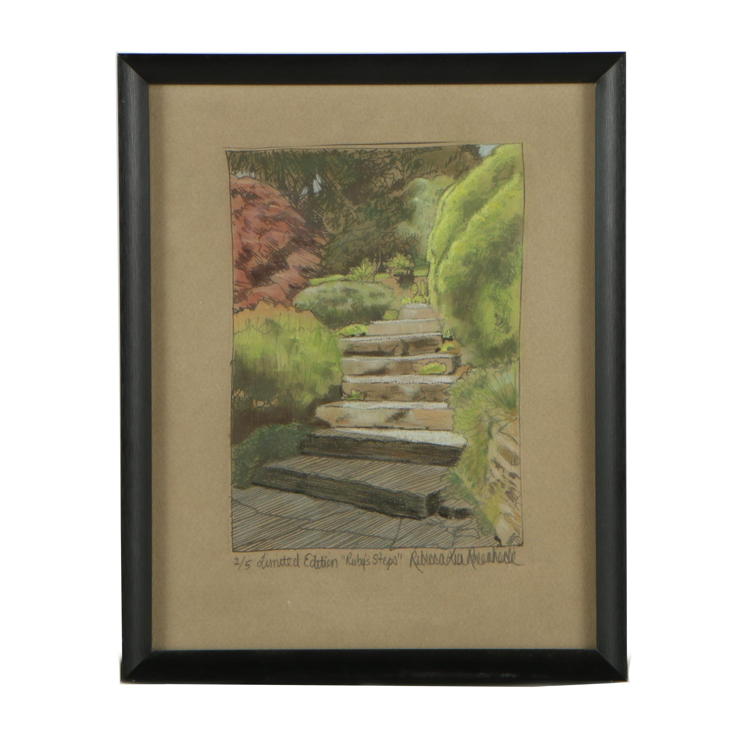 "Rebecca L. Rosenheck Limited Edition Lithograph ""Ruby's Steps"""
