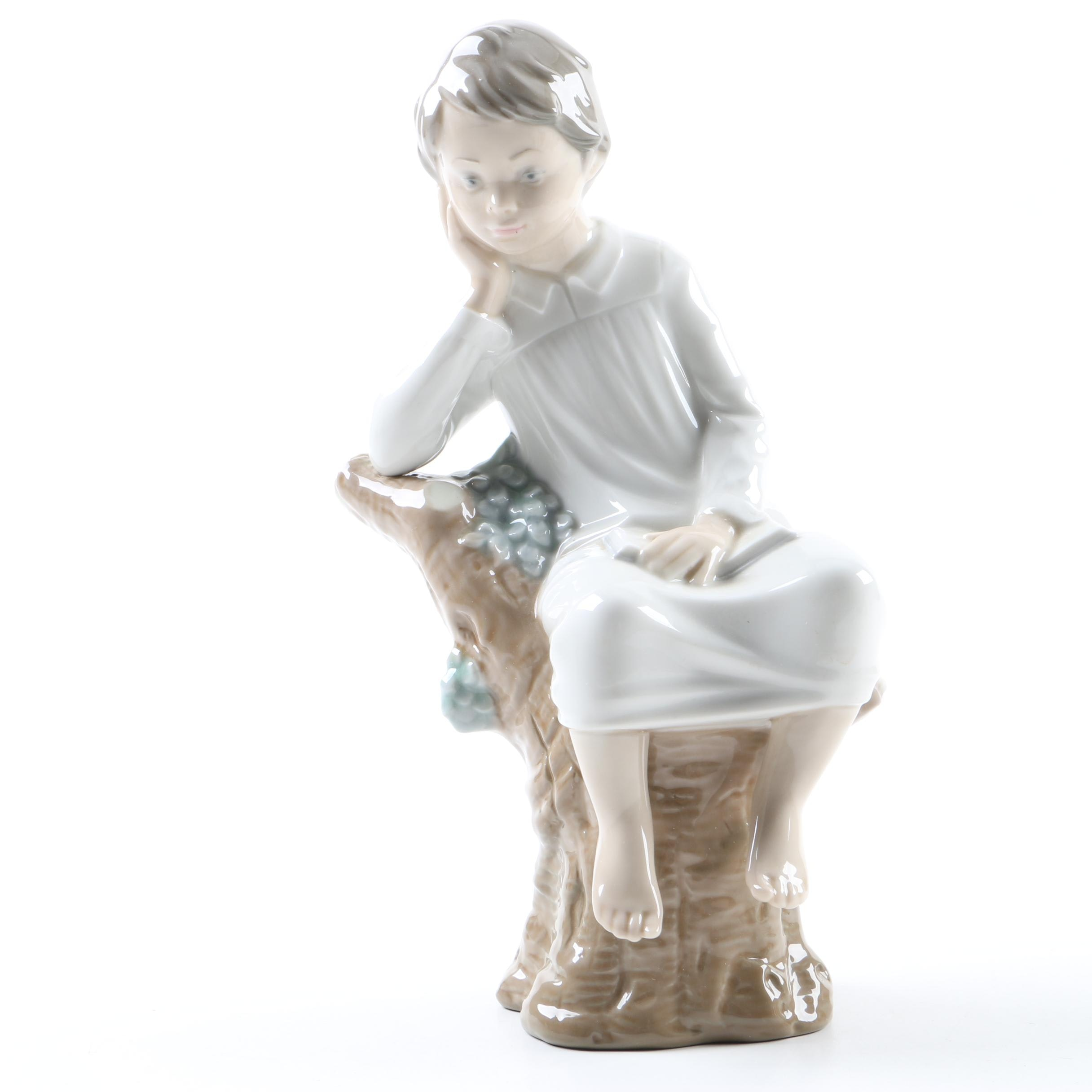 "Lladró ""Thinker Little Boy"" Figurine"