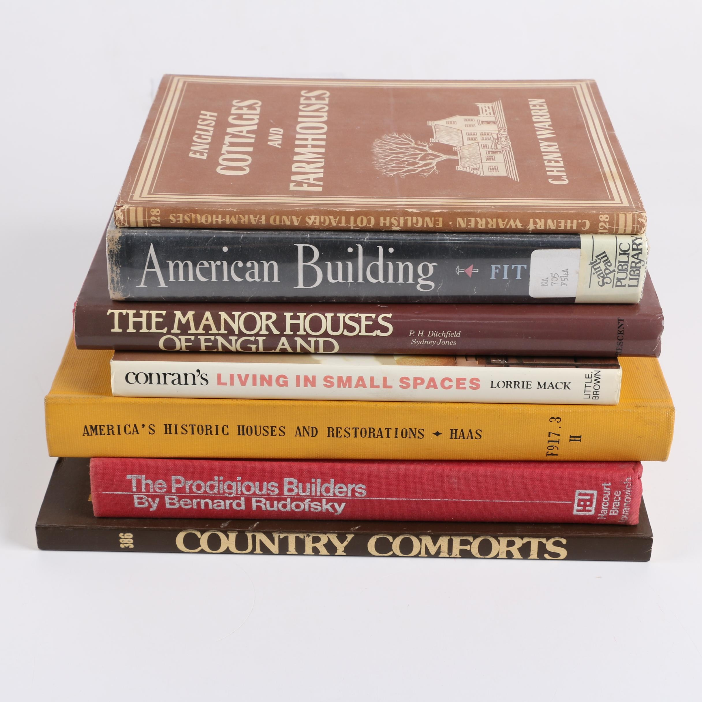 Vintage Architecture and Design Books Including