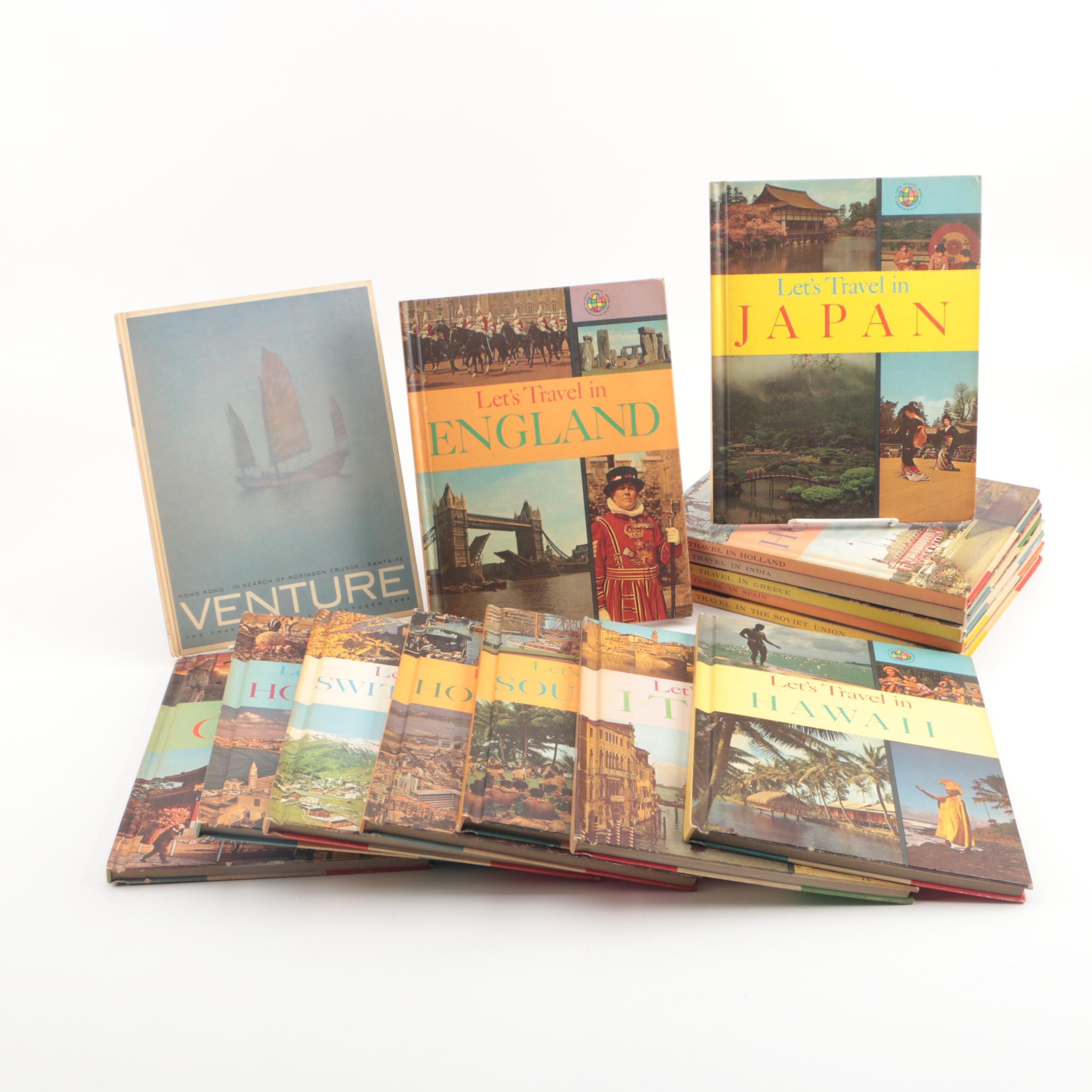 """Vintage Travel Books Including """"Let's Travel"""""""