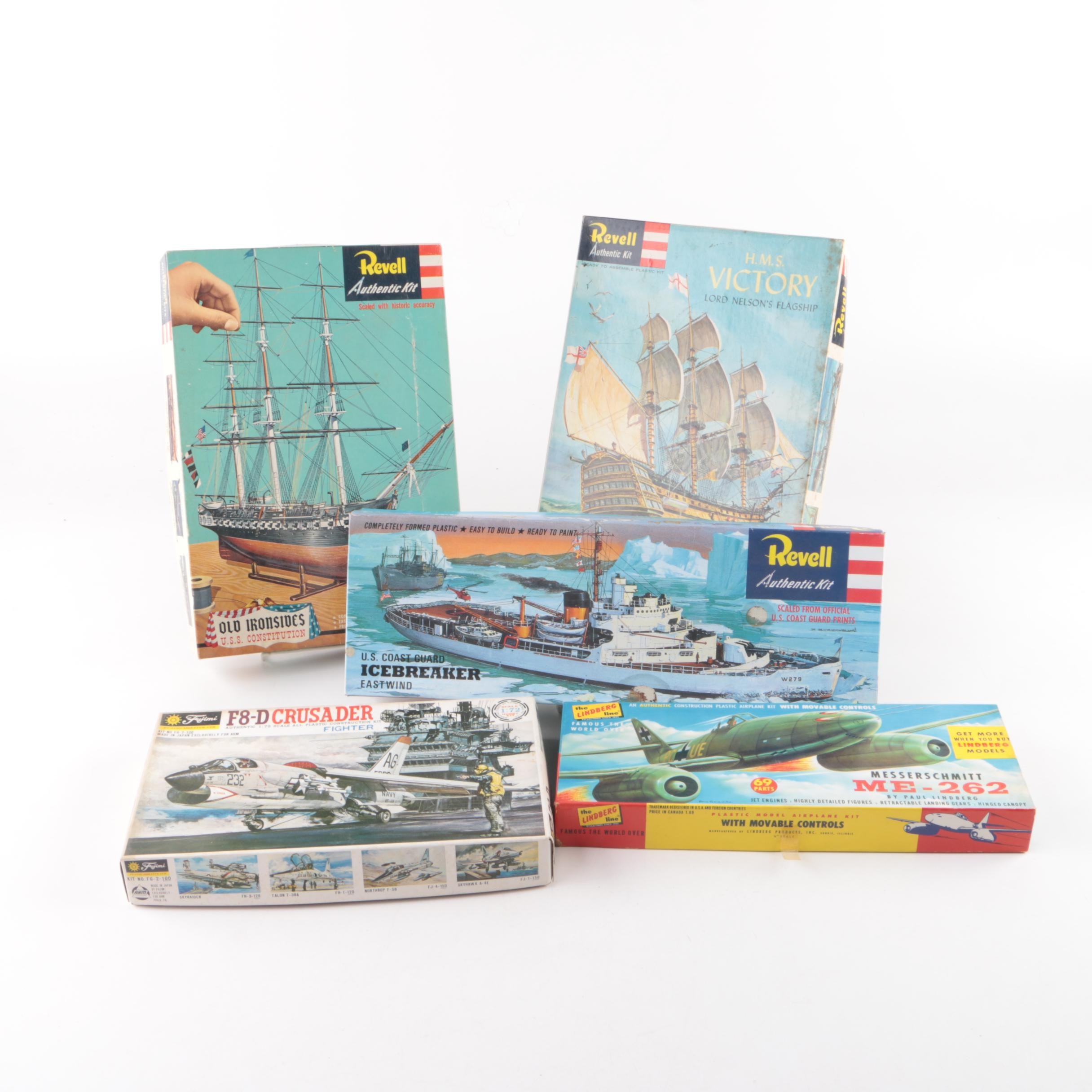 Model Ships and Military Aircraft Kits Including Revell