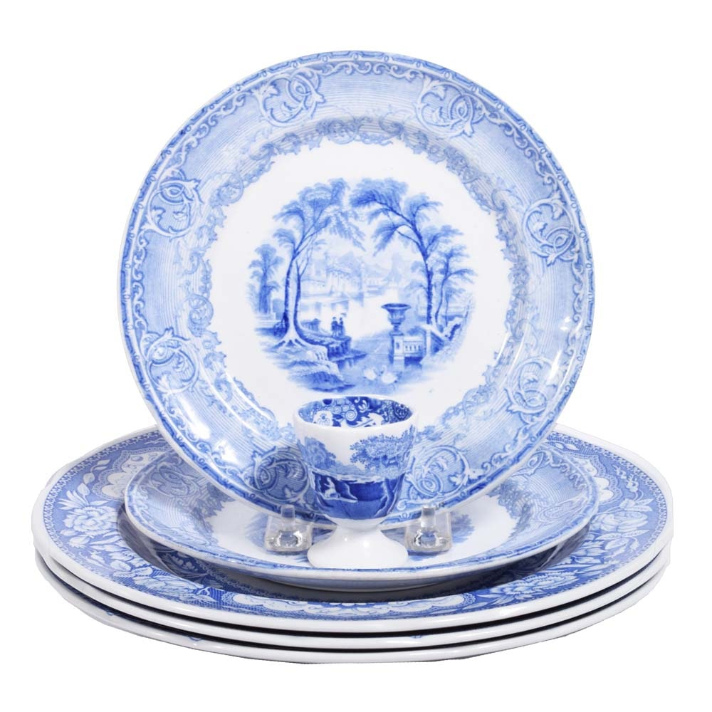 """Spode """"Blue Room Collection"""" and Antique """"Venus Blue"""" by Podmore & Walker"""