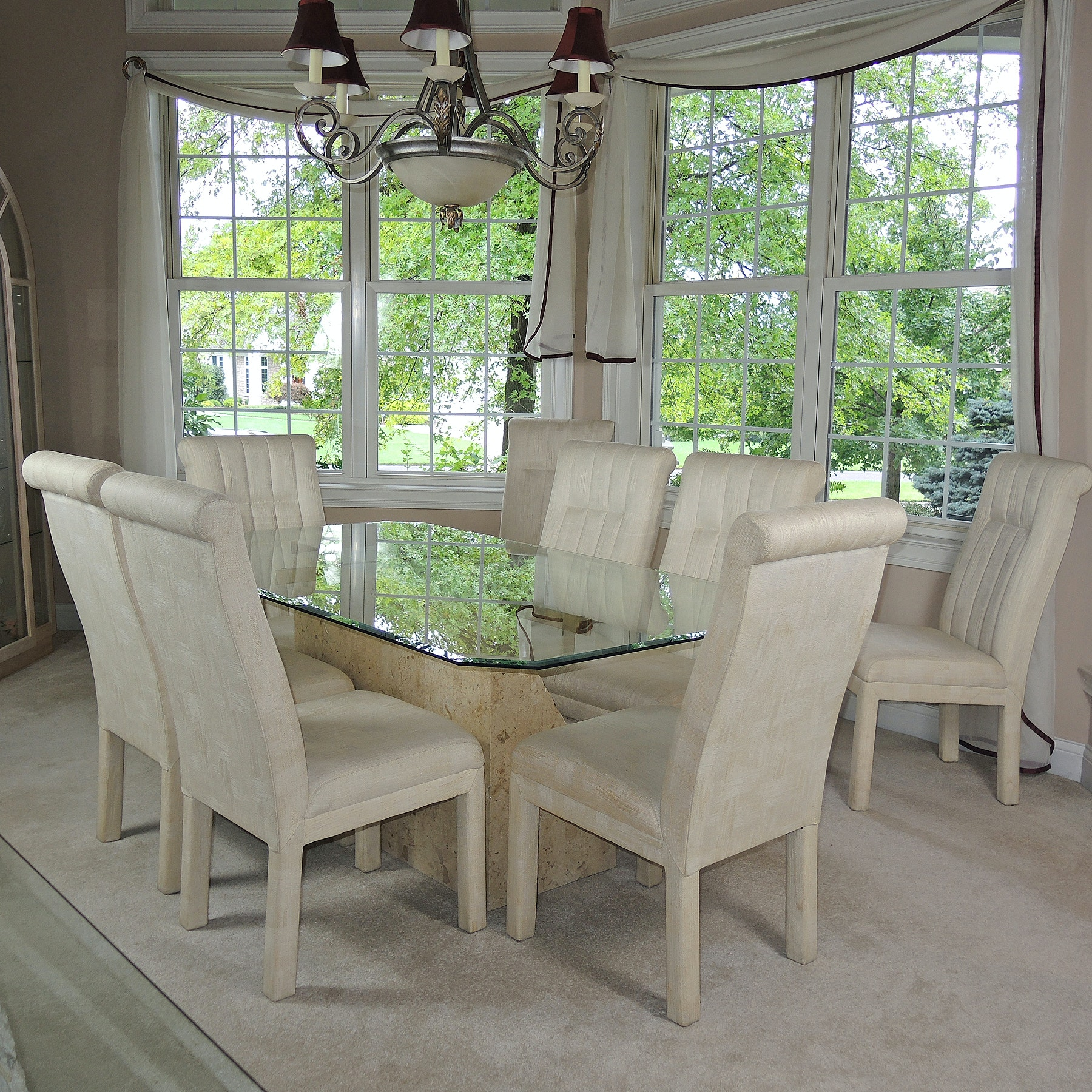 Contemporary Glass Top Table and Chairs