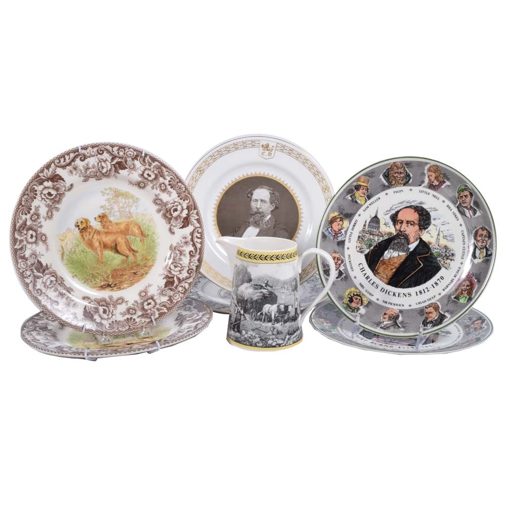 Collection of Tableware Including Spode