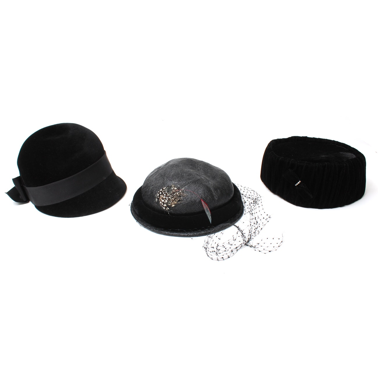 Women's Vintage Black Hats