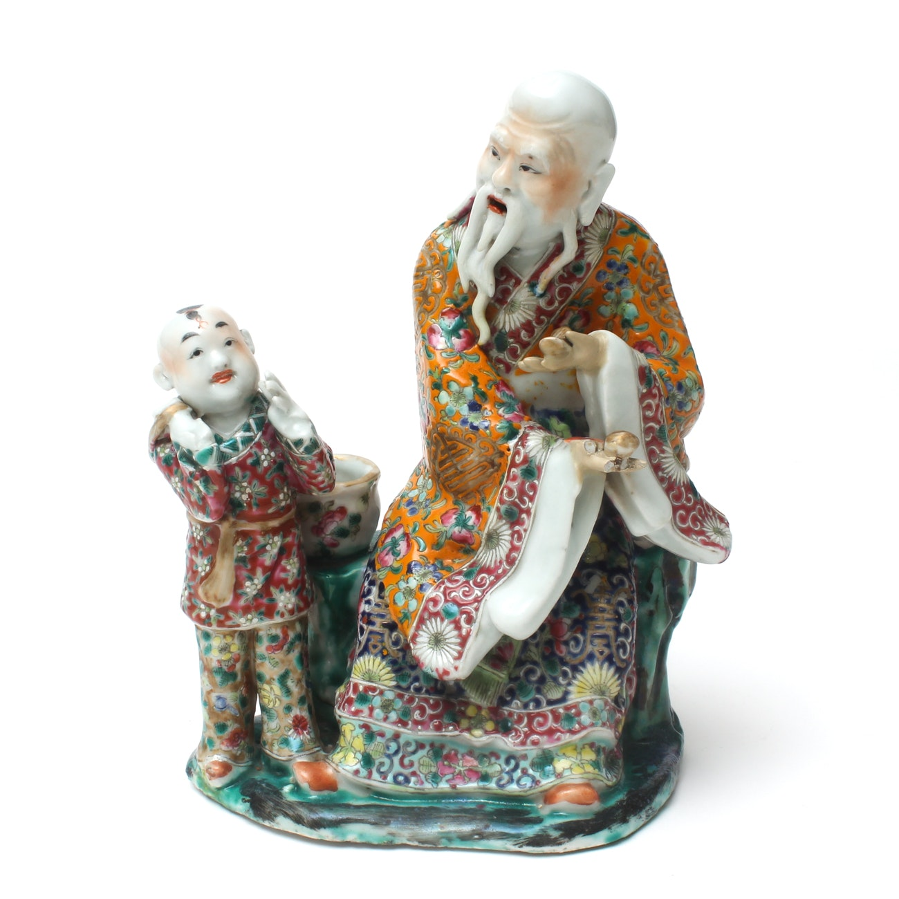 Chinese Hand Painted Porcelain Figurine