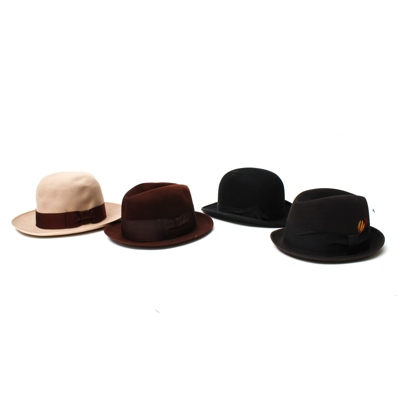 Men's Vintage Hats Including Dobbs