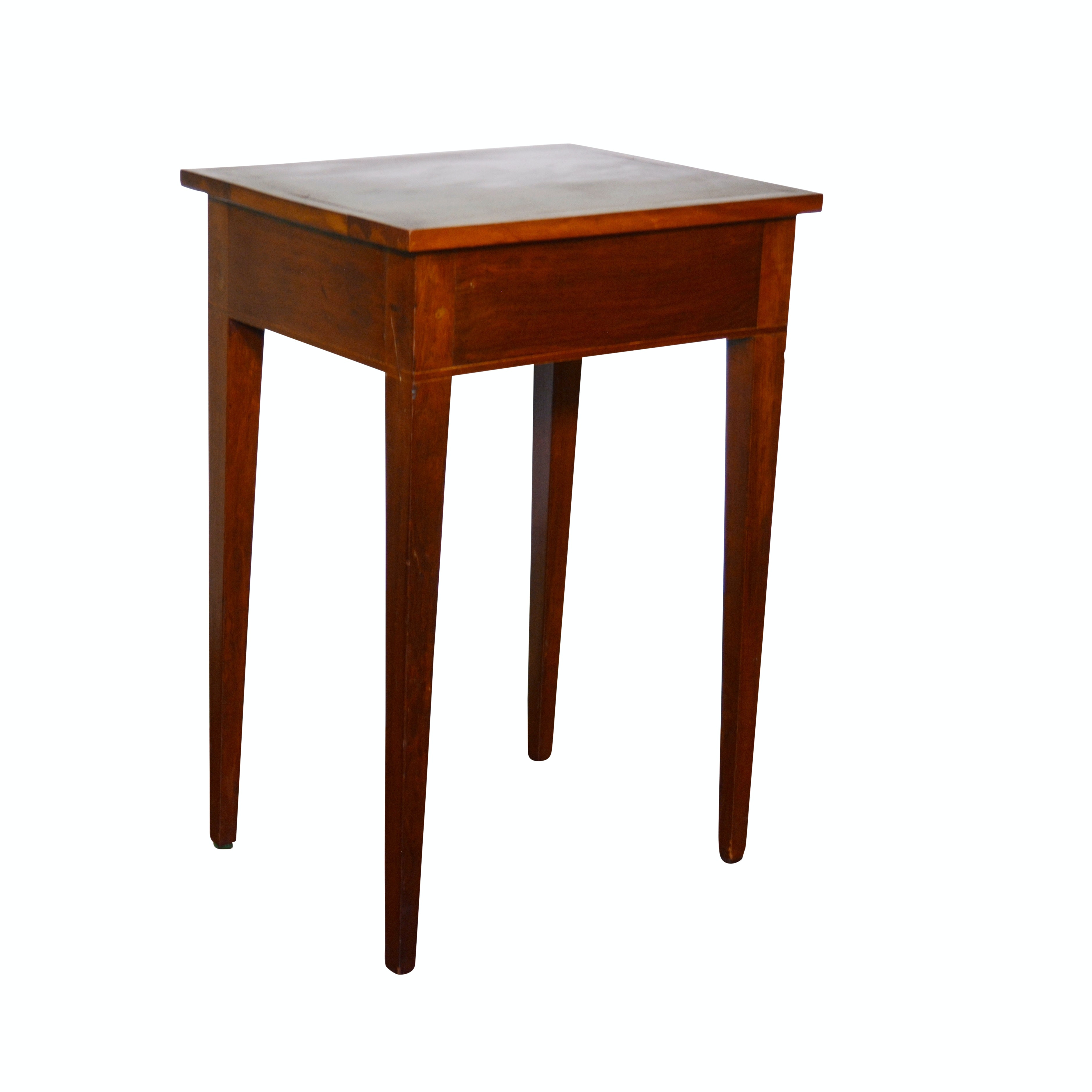Federal Style String-Inlaid Cherry Side Table, 19th Century