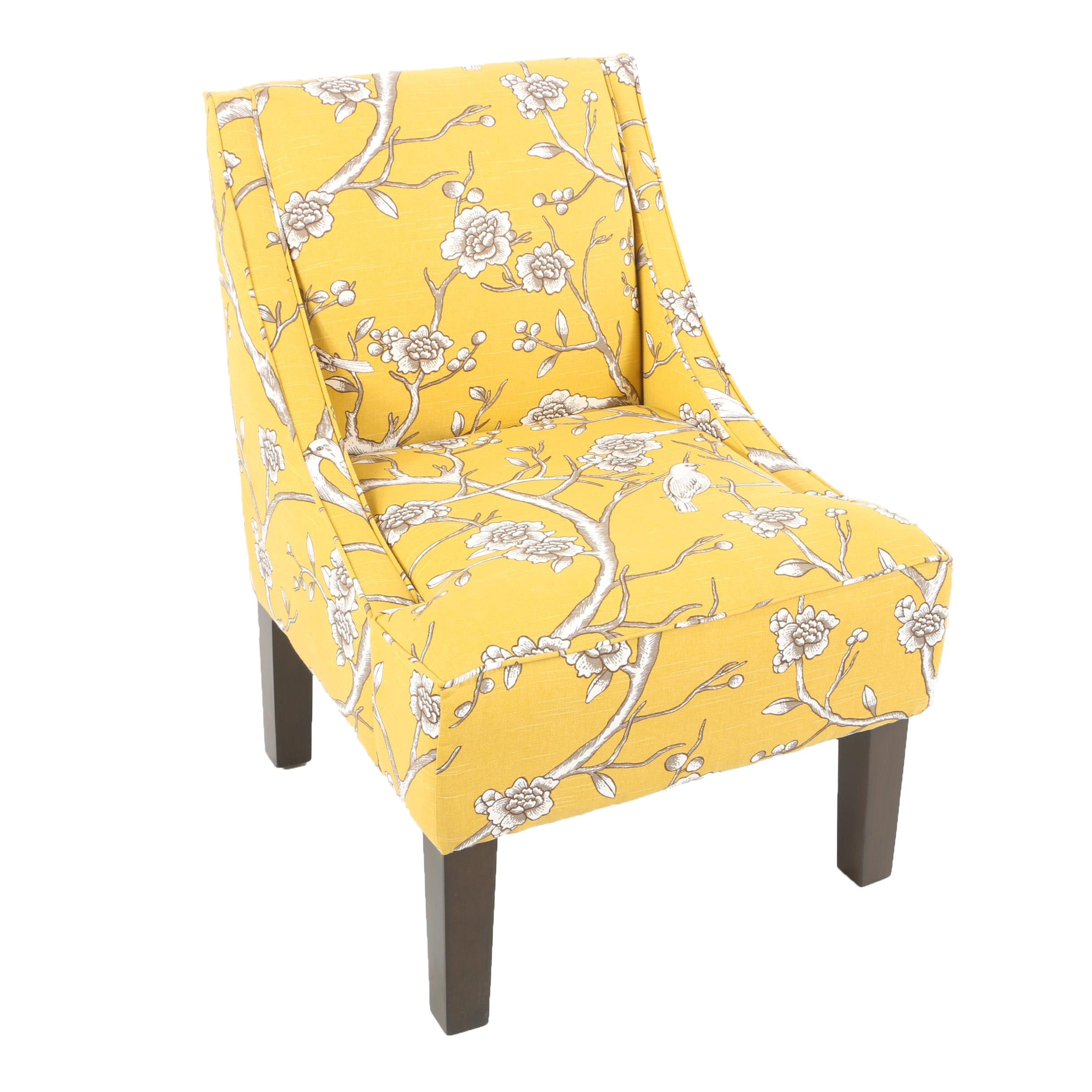 Contemporary Yellow Upholstered Side Chair