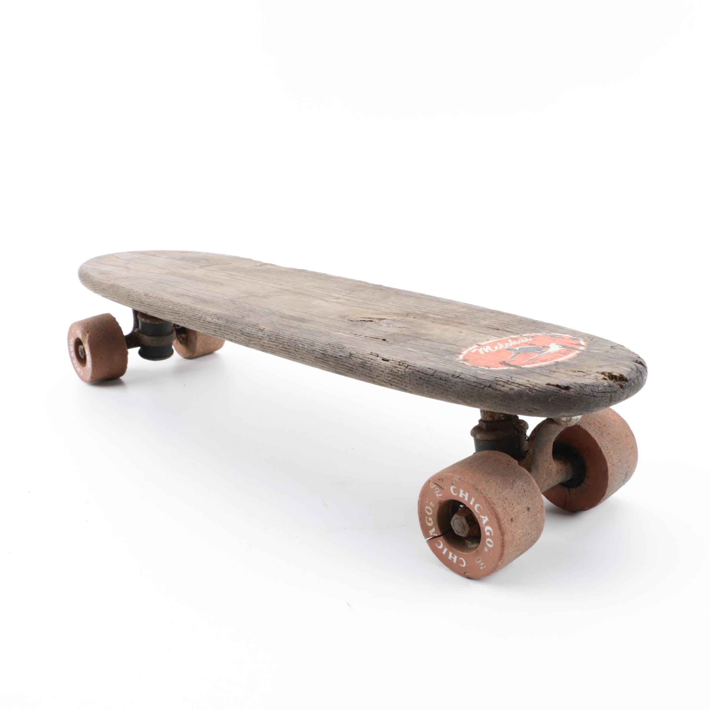 1960s Molokai Surf Skateboard with Clay Wheels