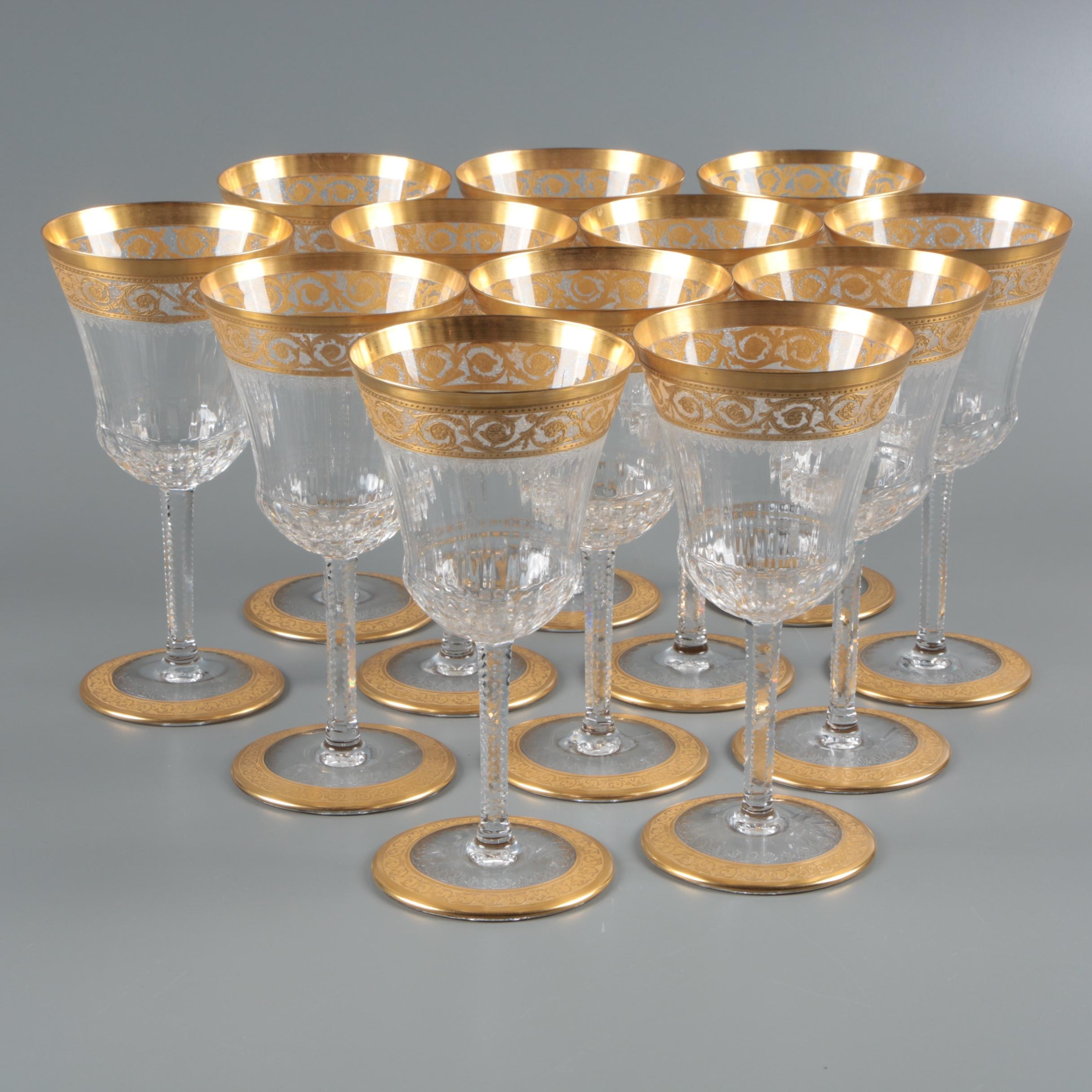 "St. Louis ""Thistle"" Crystal Water Goblets"