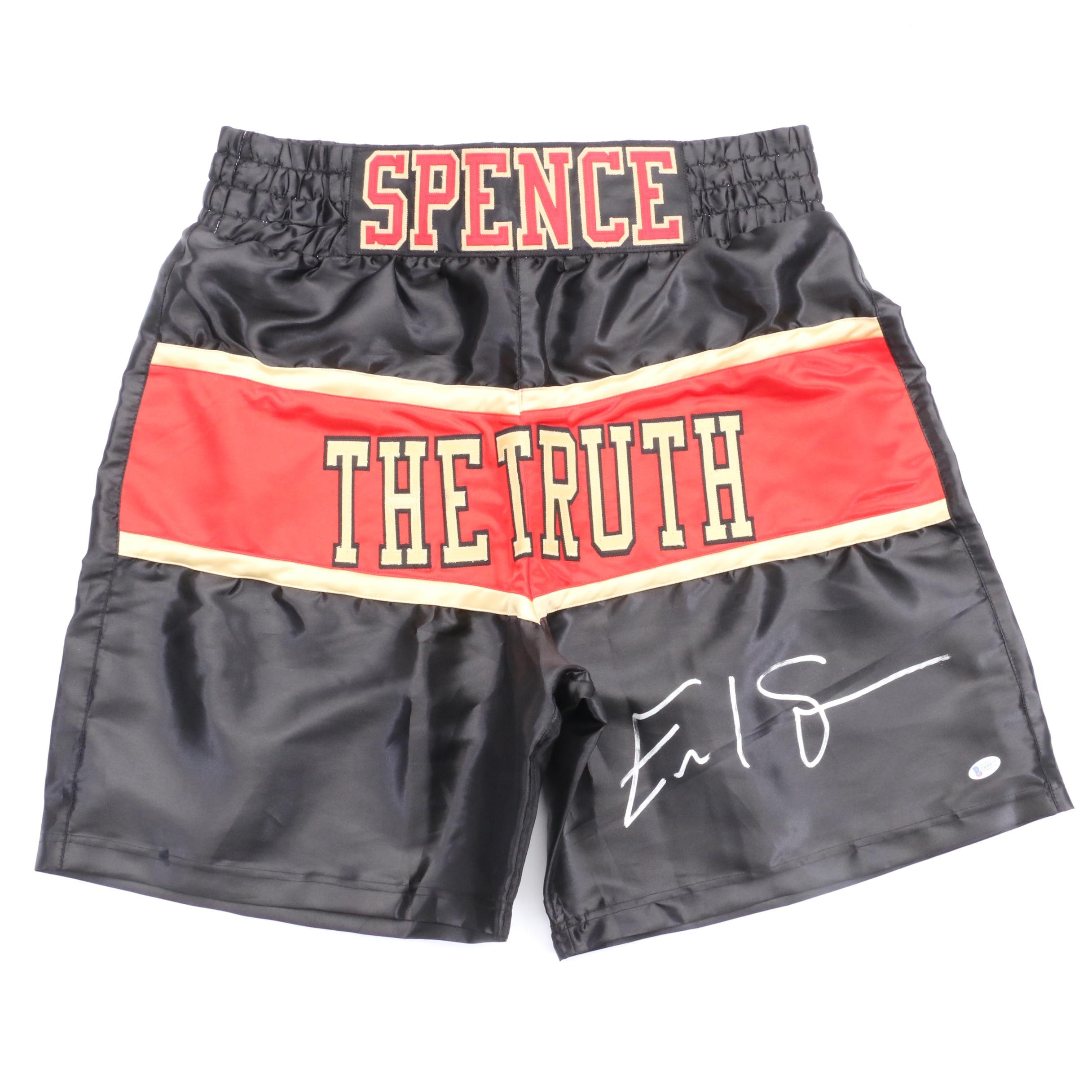 Errol Spence Jr. Signed Trunks COA