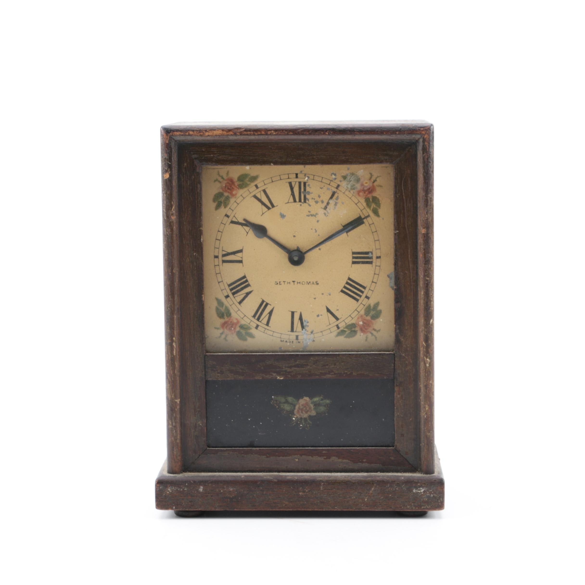 Seth Thomas Antique Windup Shelf Clock
