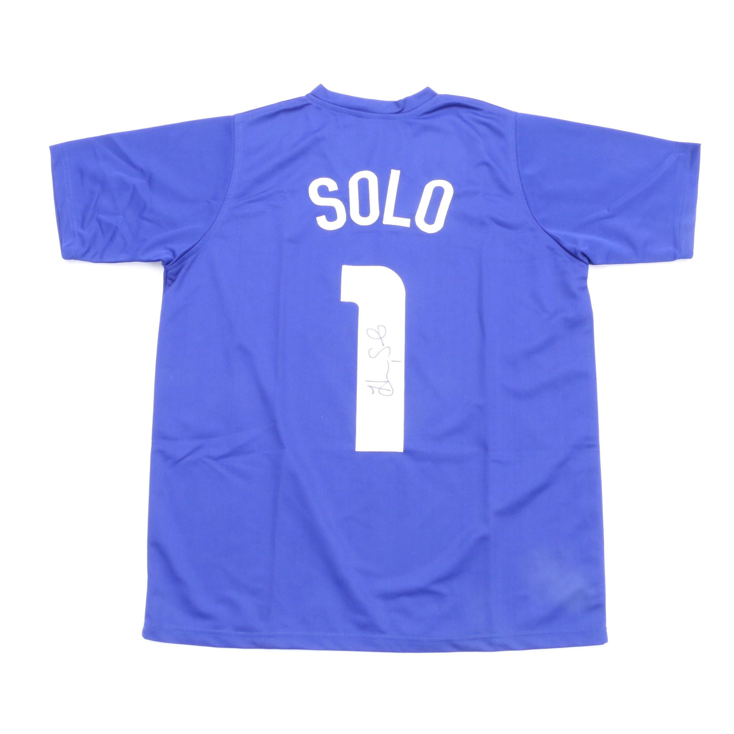 Hope Solo Signed Jersey  COA