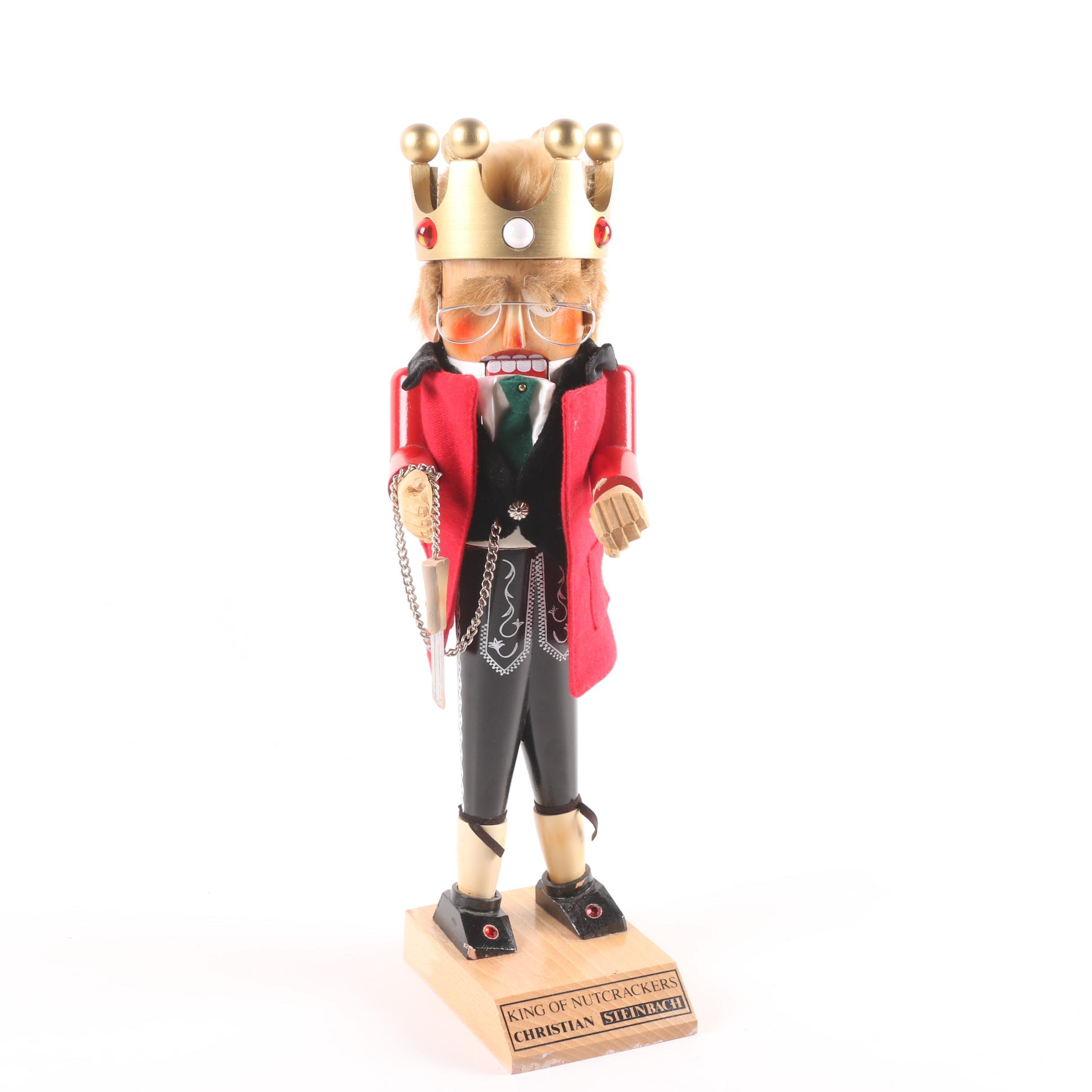 "1994 Steinbach Signed ""King of Nutcrackers"" Nutcracker with Inscription"
