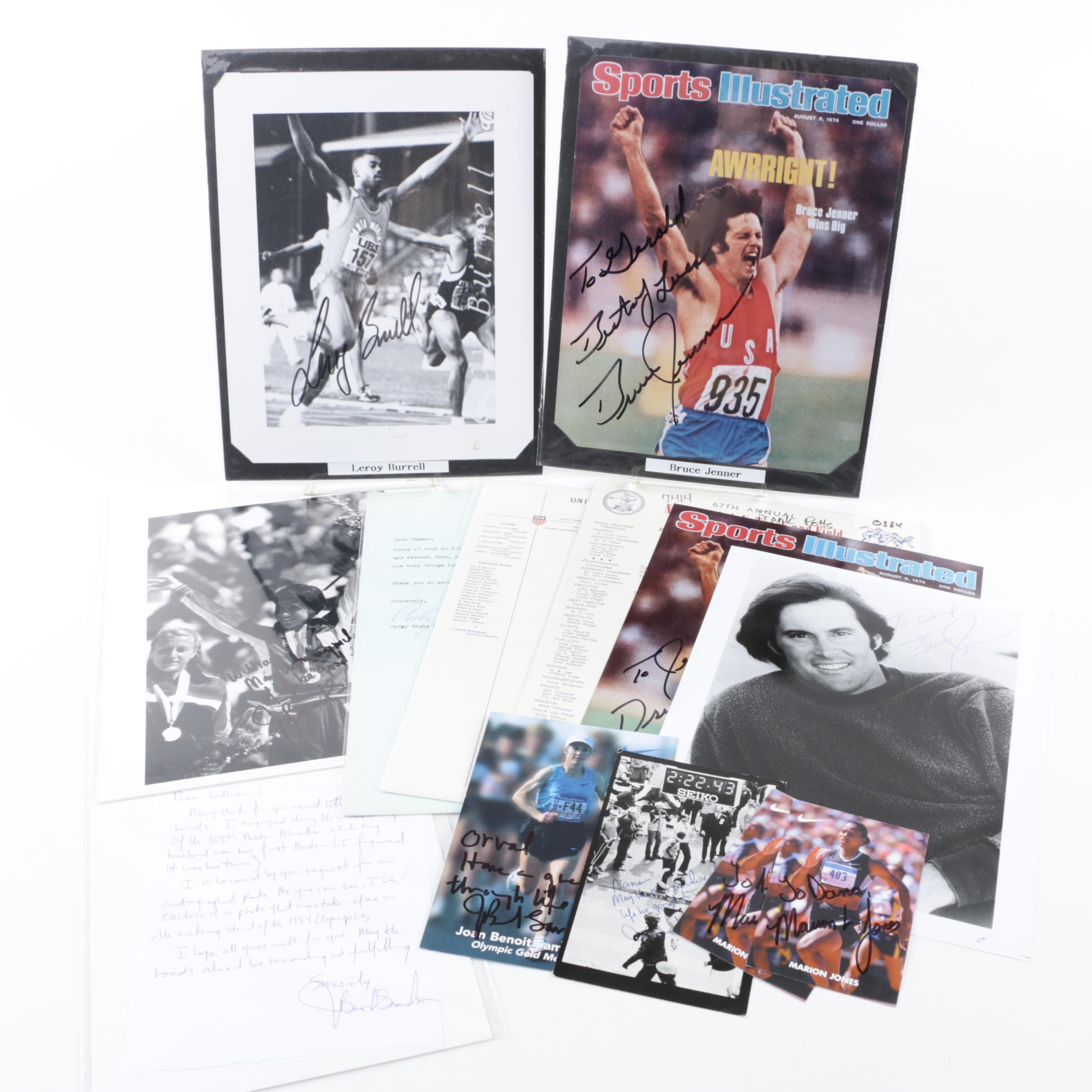 Olympian and Track and Field Athletes Autographs with Ephemera