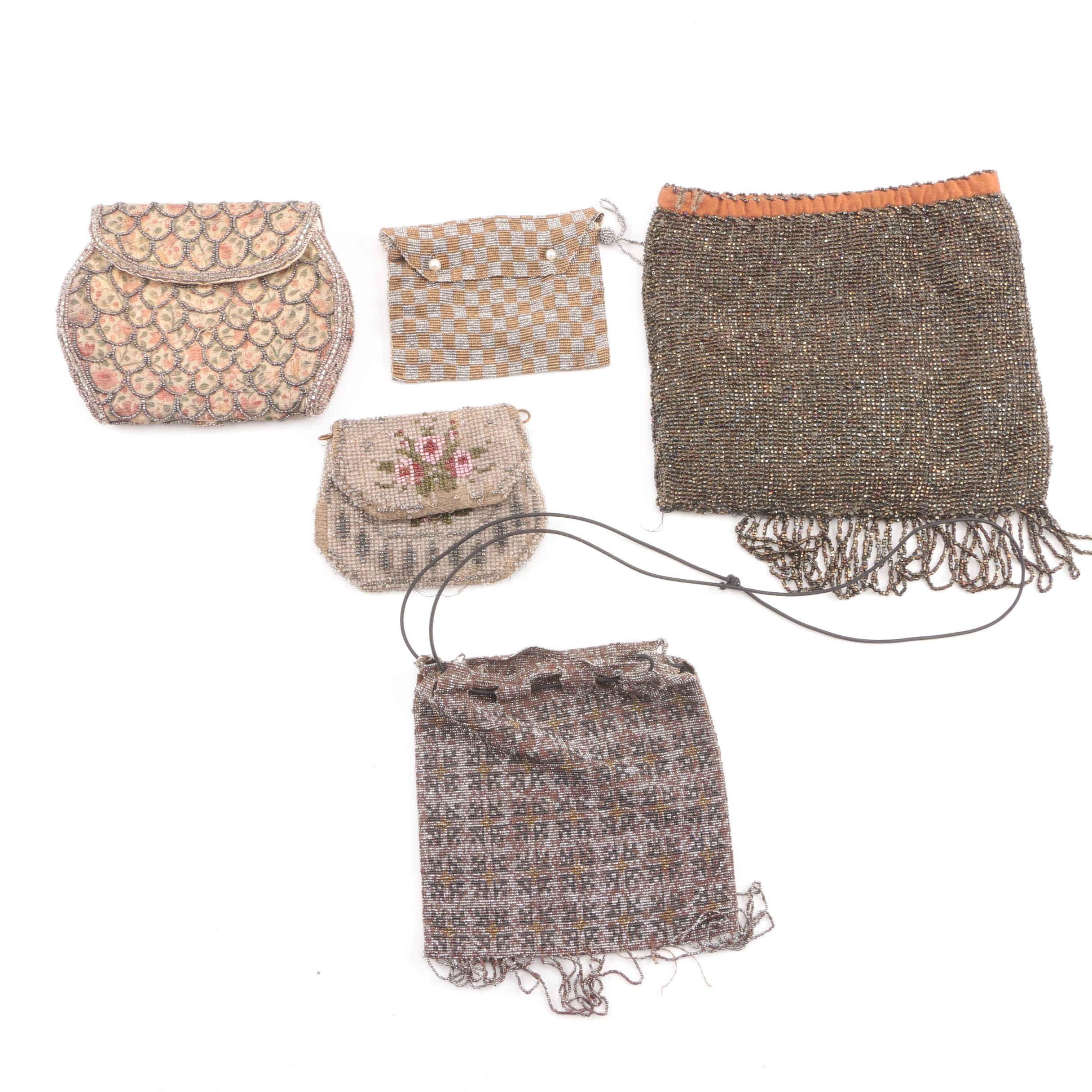 Antique Beaded Handbags and Coin Purses