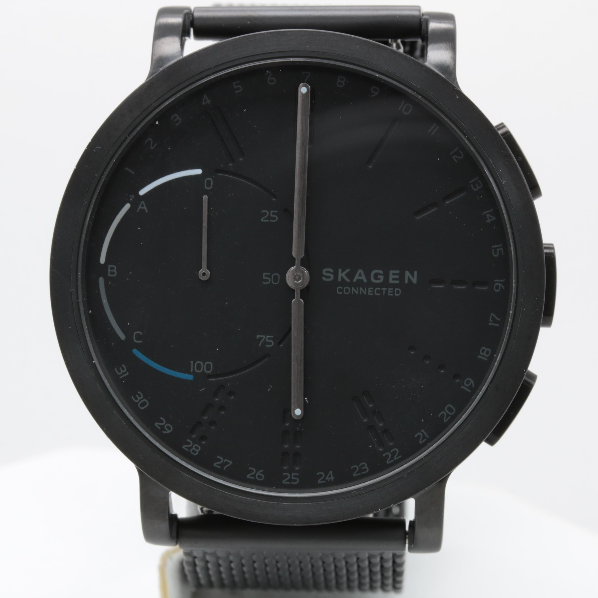Skagen Black Stainless Steel Hybrid Smartwatch