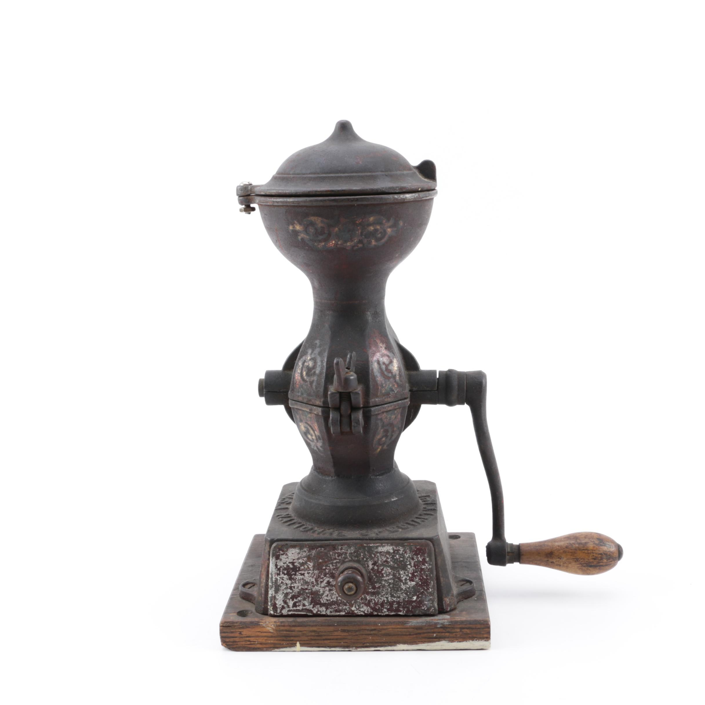 Antique National Specialty Mfg. Co. Cast Iron Coffee Grinder