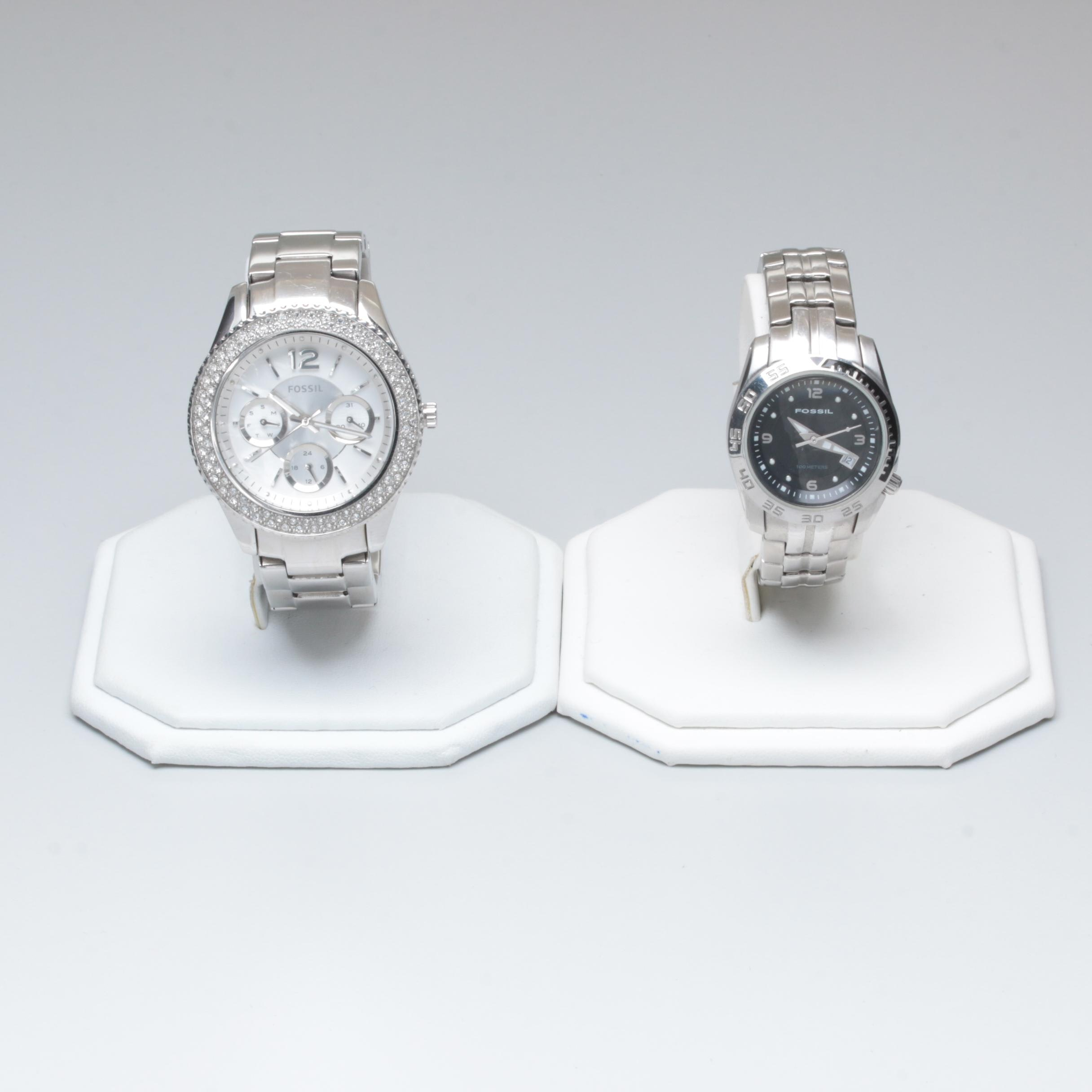 Fossil Stainless Steel Wristwatches