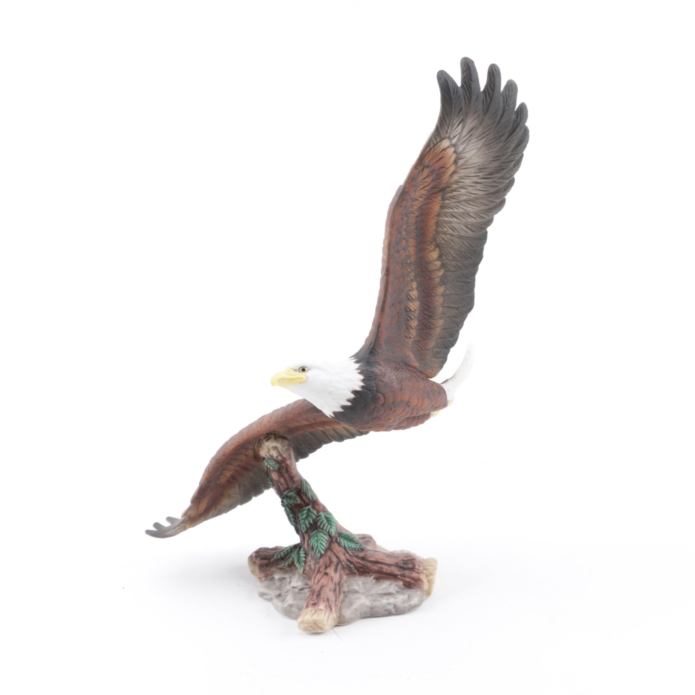 "1993 Lenox ""Soaring the Heights"" Porcelain Figurine from Birds of Prey Series"