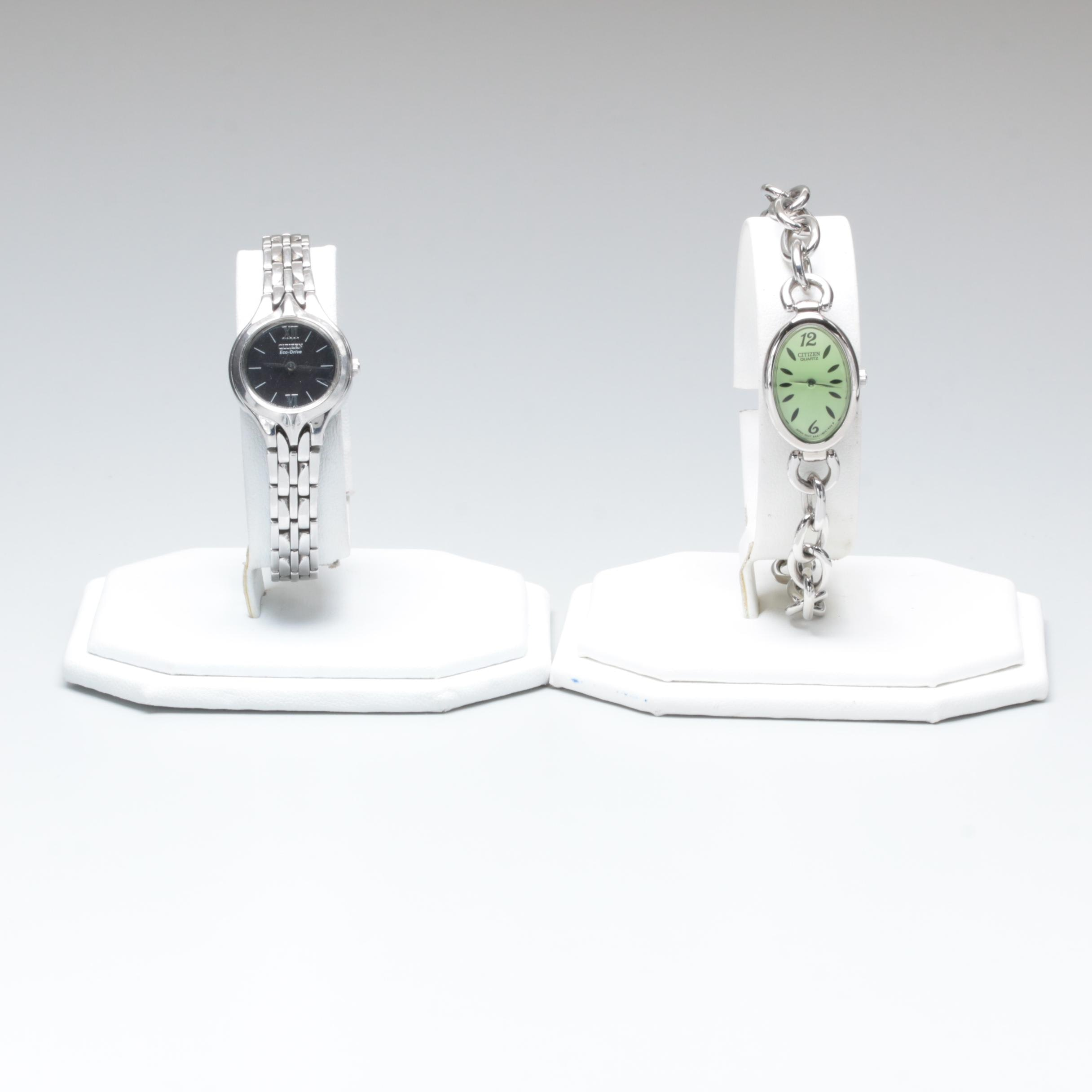 Citizen Stainless Steel and Silver Tone Wristwatch Selection
