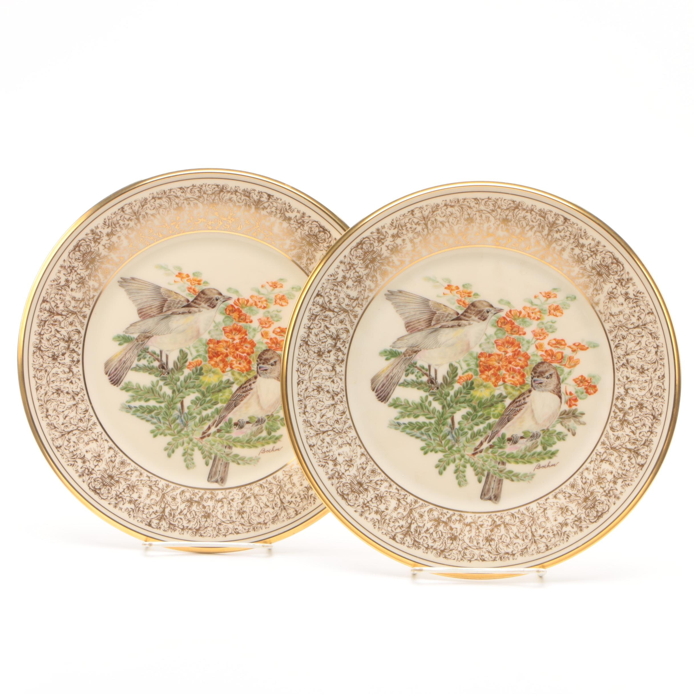 "1981 Lenox Limited Edition ""Boehm Birds"" Bone China Plates c. 1970-1981"