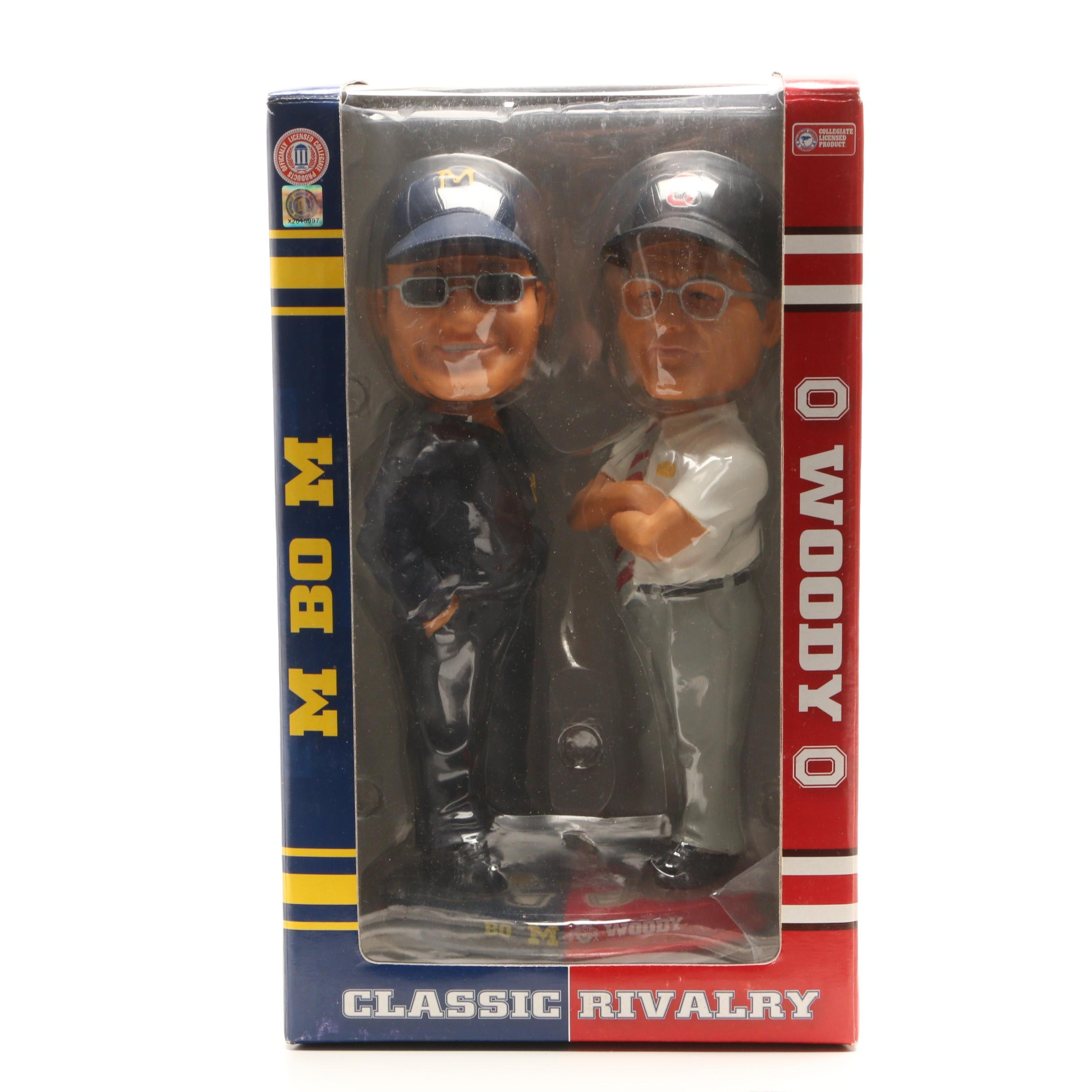 """Bo and Woody """"Classic Rivalry"""" Forever Bobblehead Doll In Original Box"""