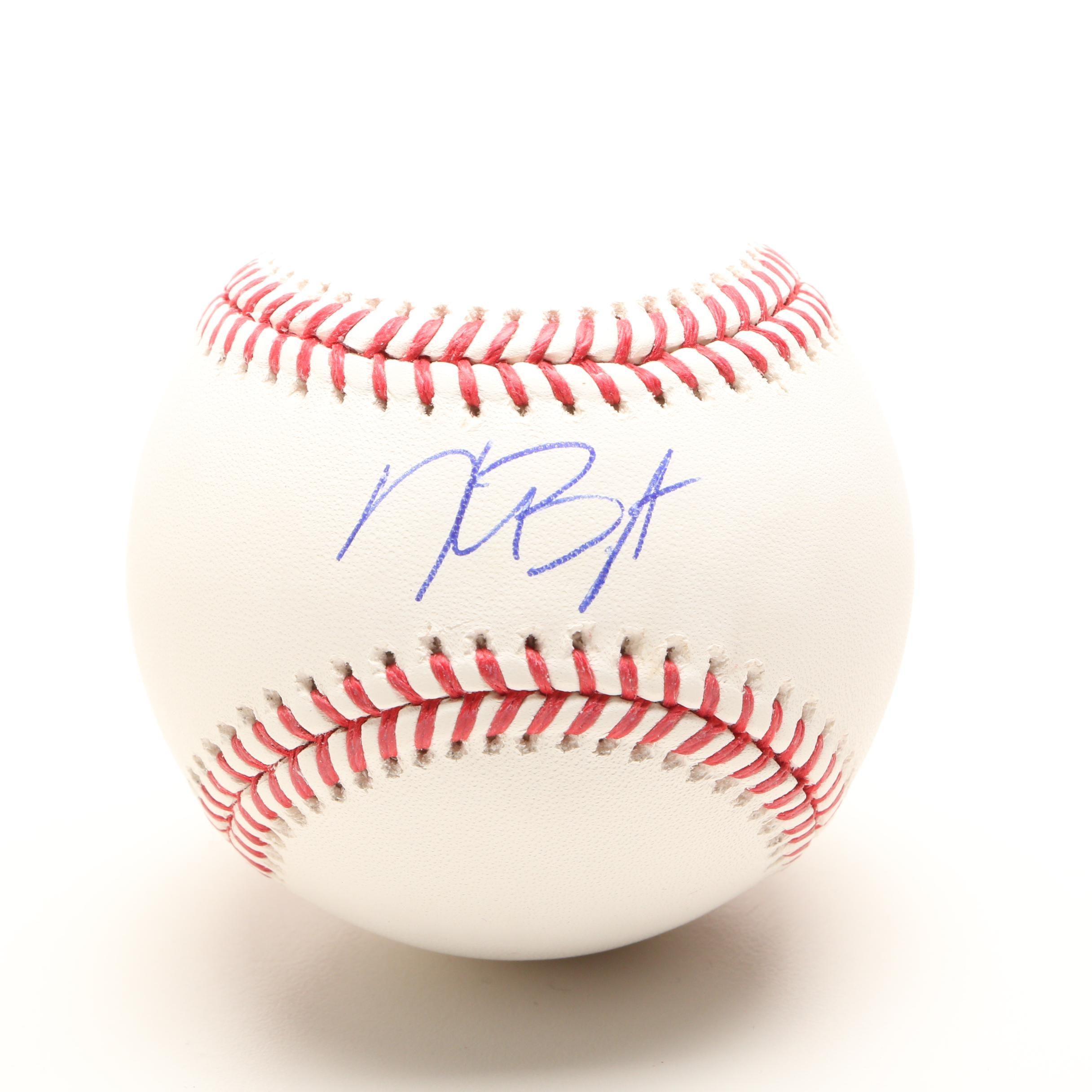 Kris Bryant Signed Rawlings Major League Baseball COA