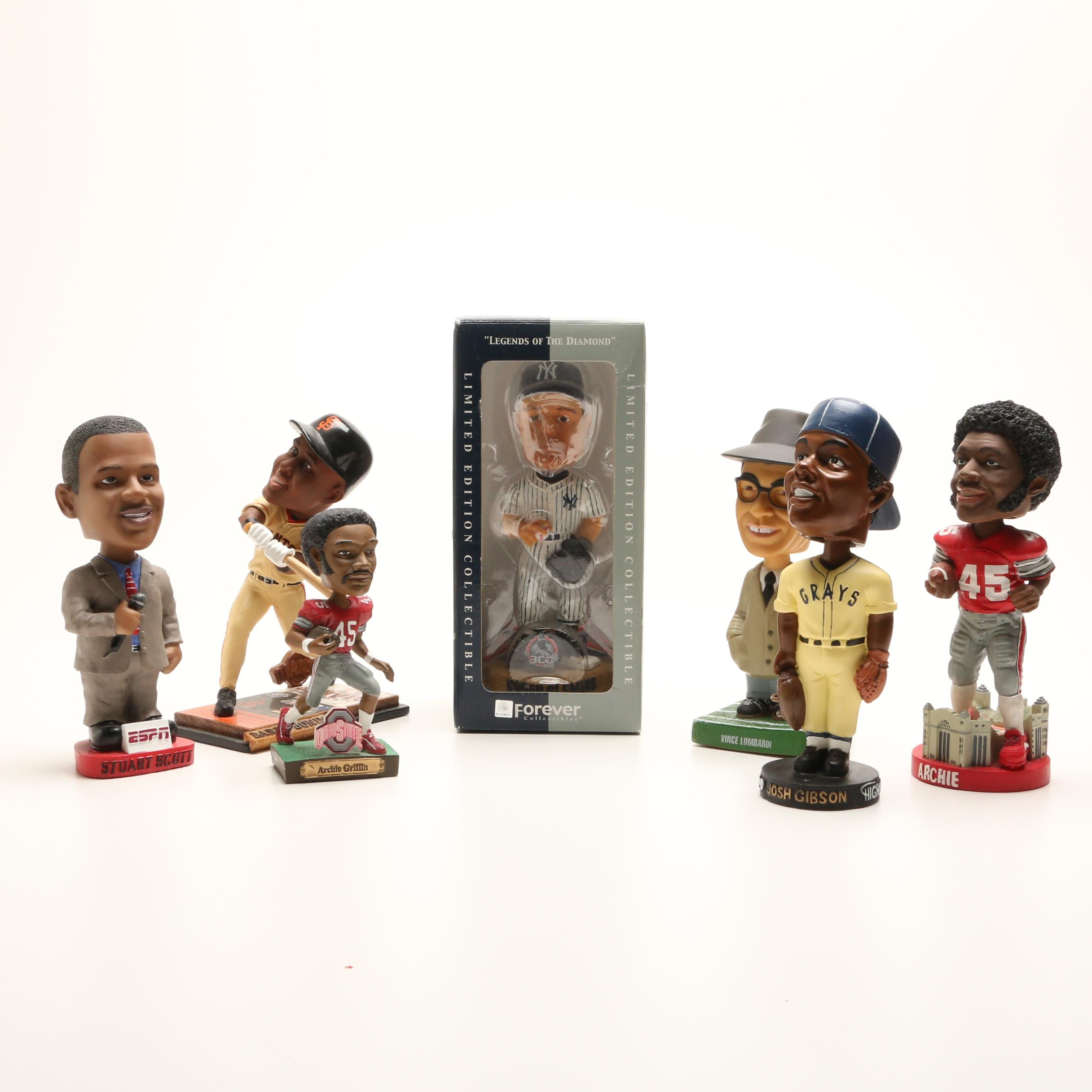 Seven Bobblehead Dolls Including Archie Griffin