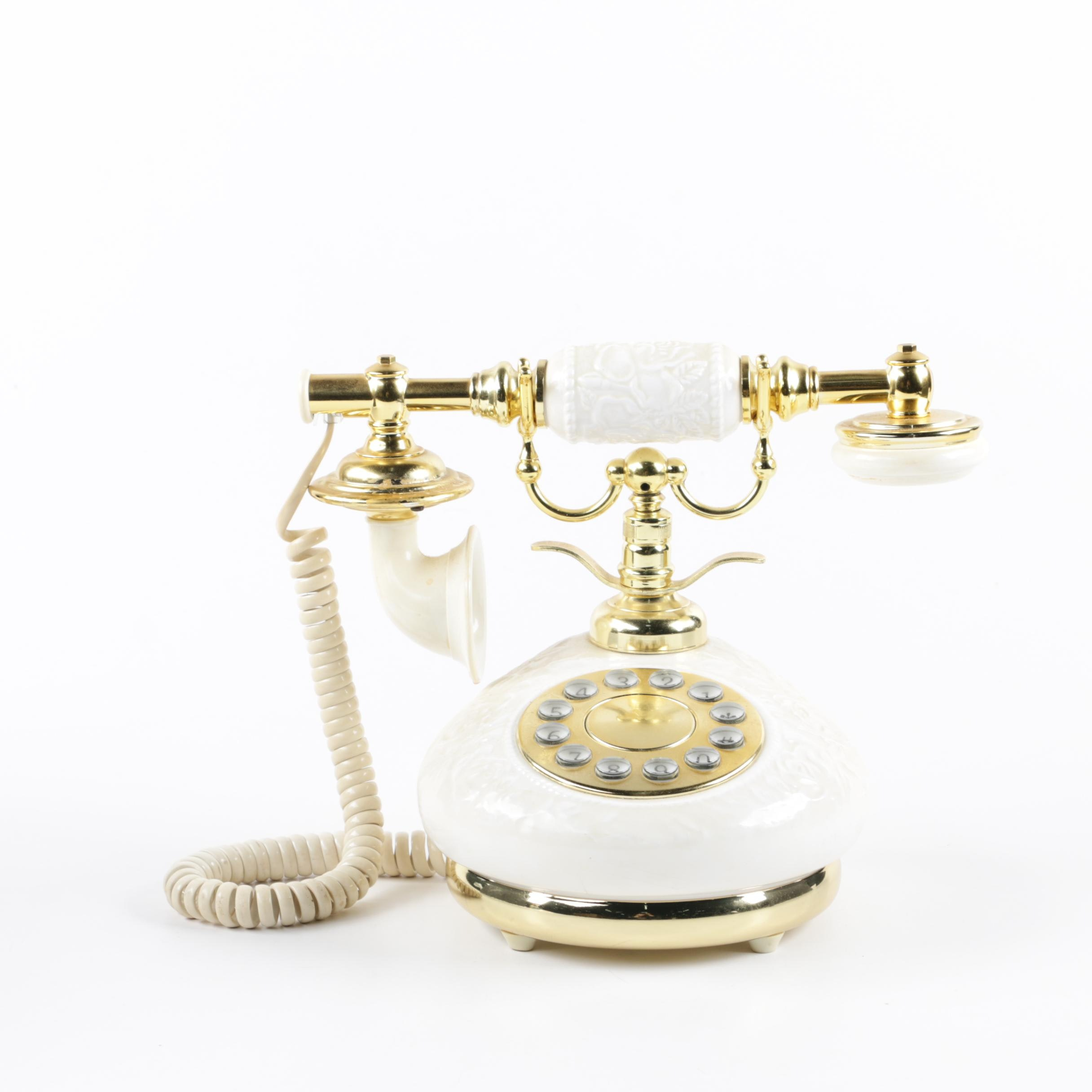 Polyconcept USA Vintage Rotary Style Push Button Telephone